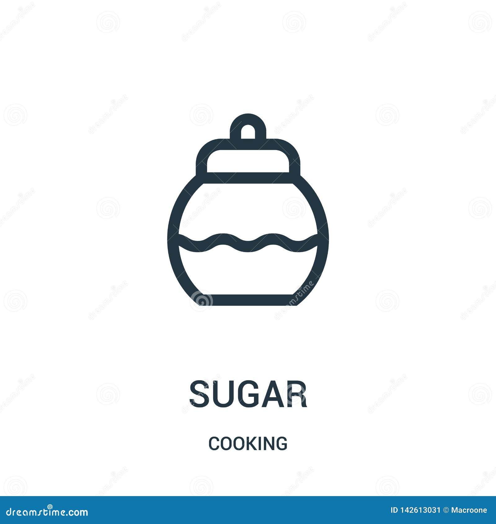 Vector del icono del azúcar de cocinar la colección L?nea fina ejemplo del vector del icono del esquema del az?car S?mbolo linear