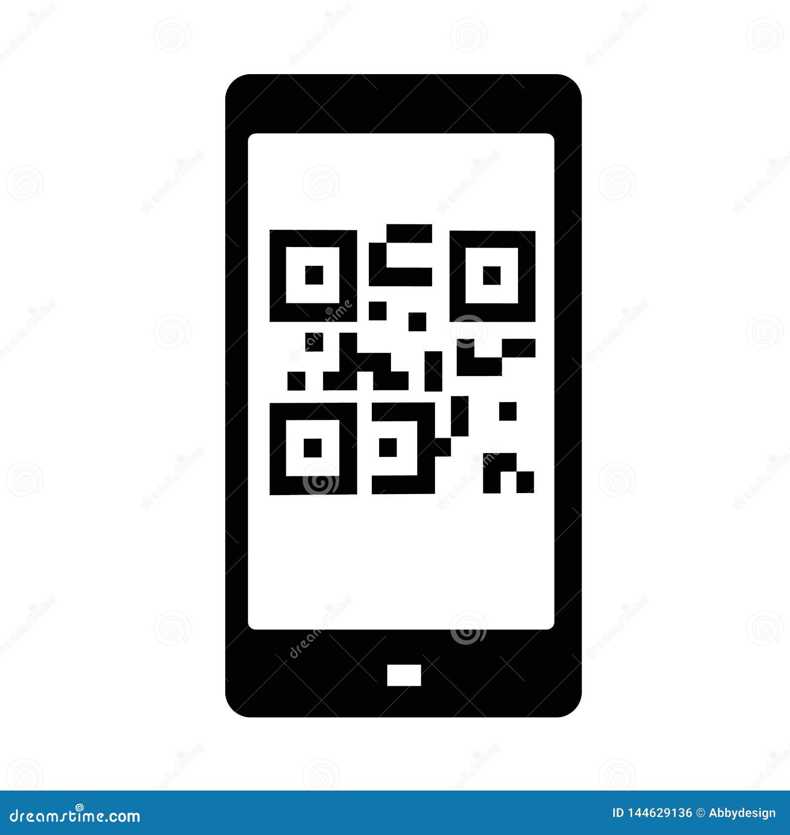 Vector del icono del código de QR