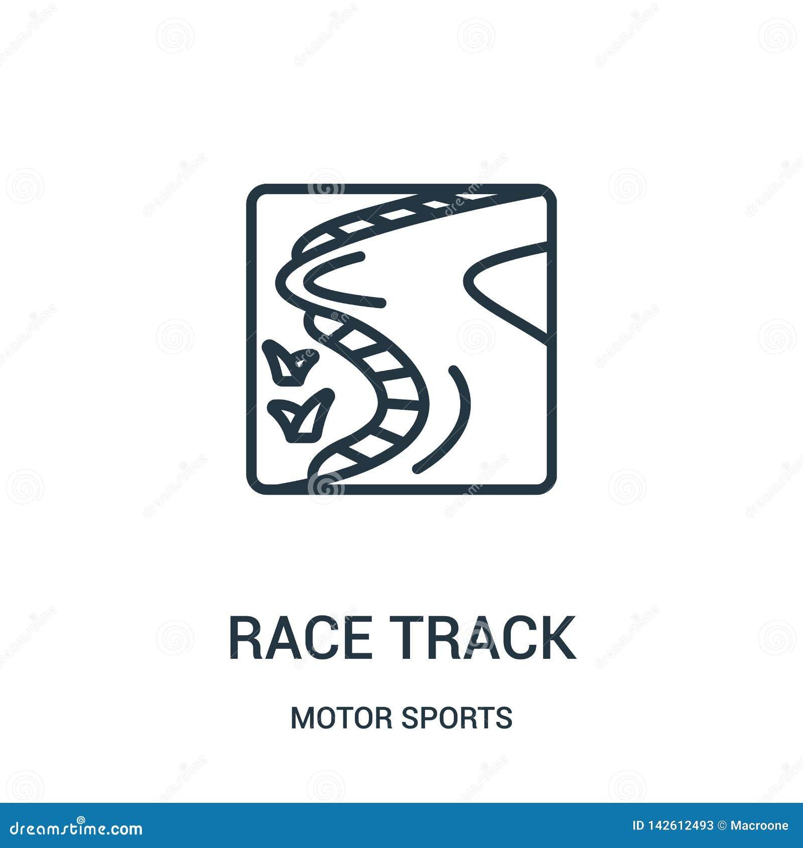 Vector del icono del circuito de carreras de la colección de los deportes de motor L?nea fina ejemplo del vector del icono del es