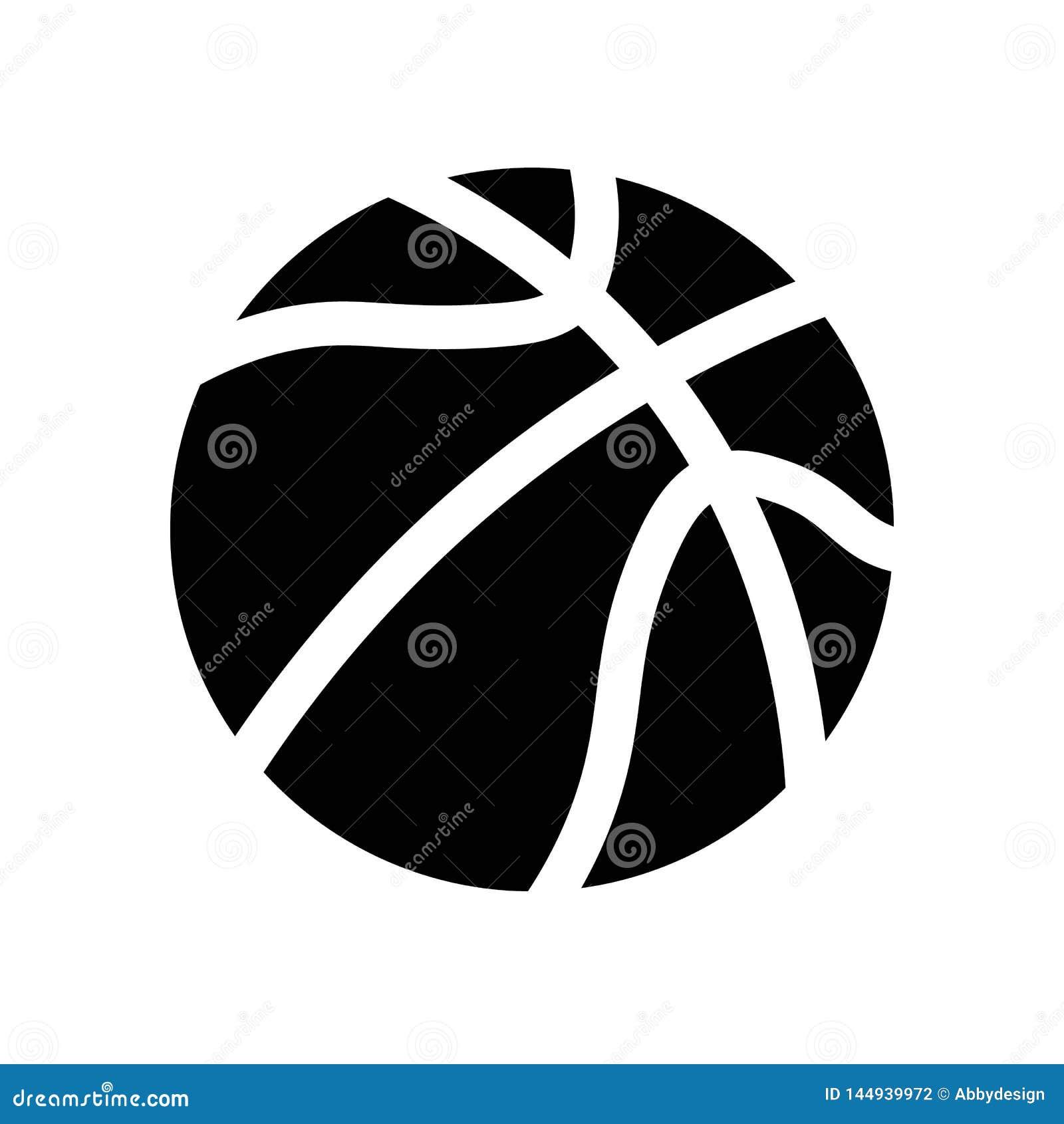 Vector del icono de la bola del baloncesto