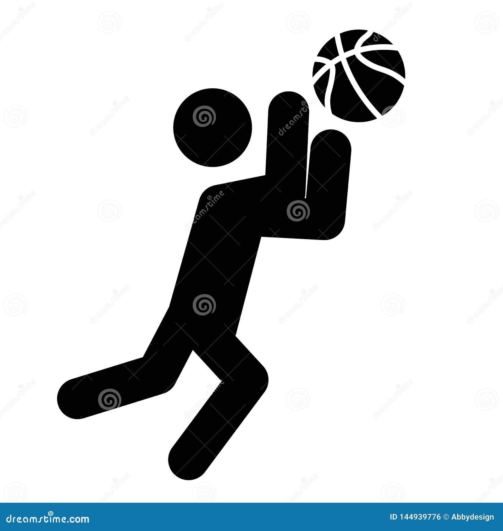 Vector del icono de la captura del baloncesto