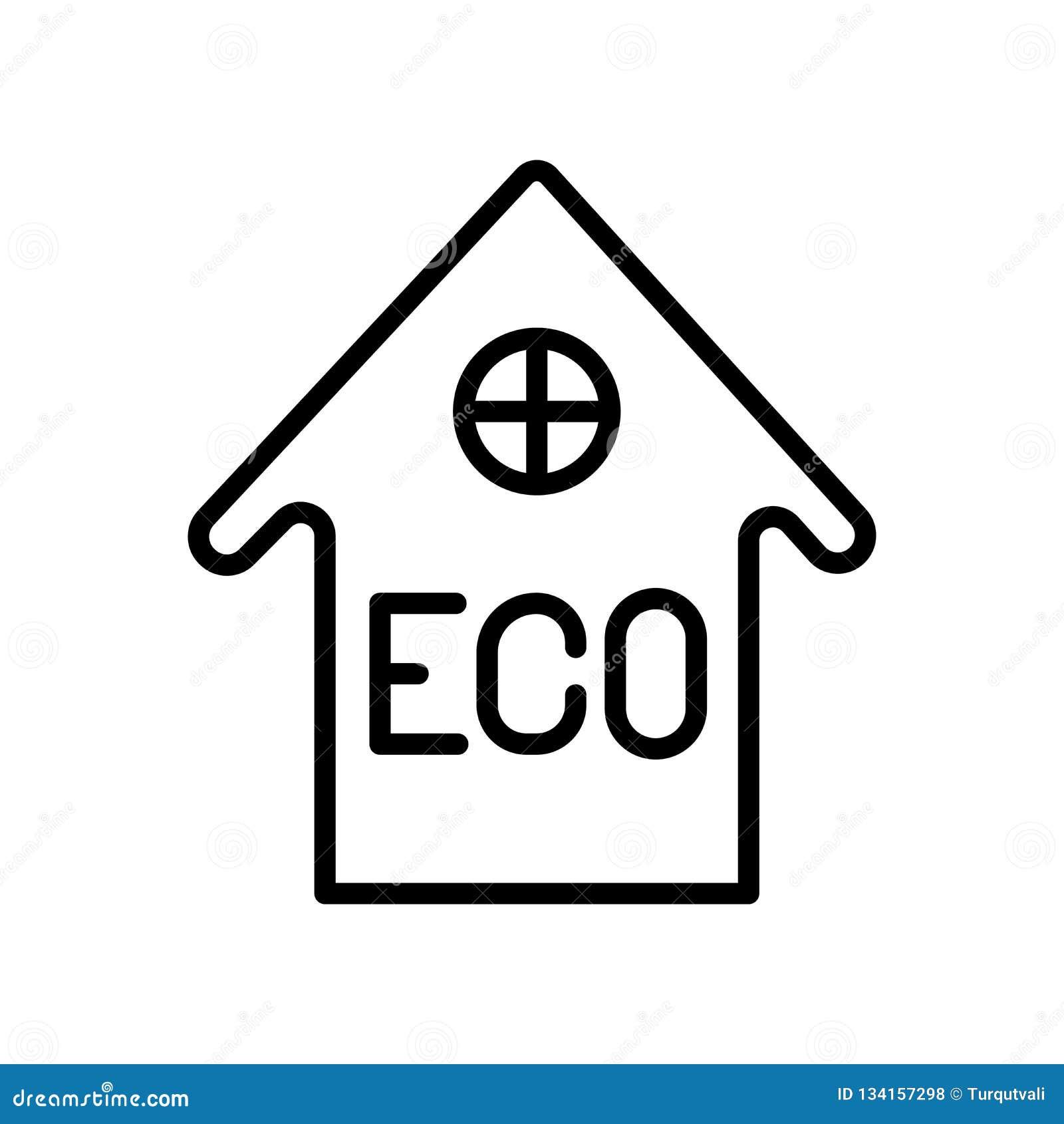 Vector del icono de la casa aislado en el fondo, la muestra de la casa, la línea y los elementos blancos del esquema en estilo li