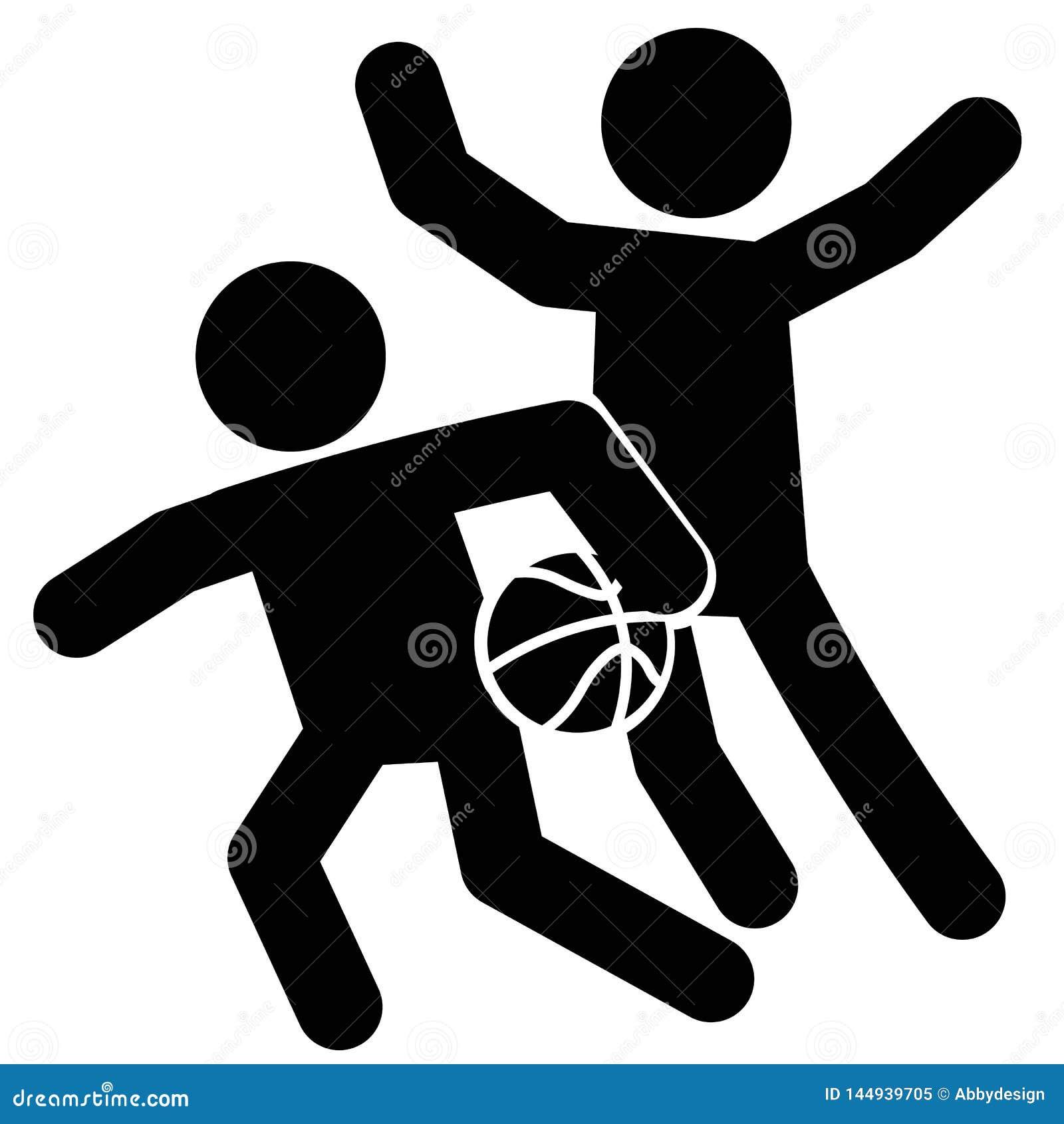 Vector del icono de la defensa del baloncesto