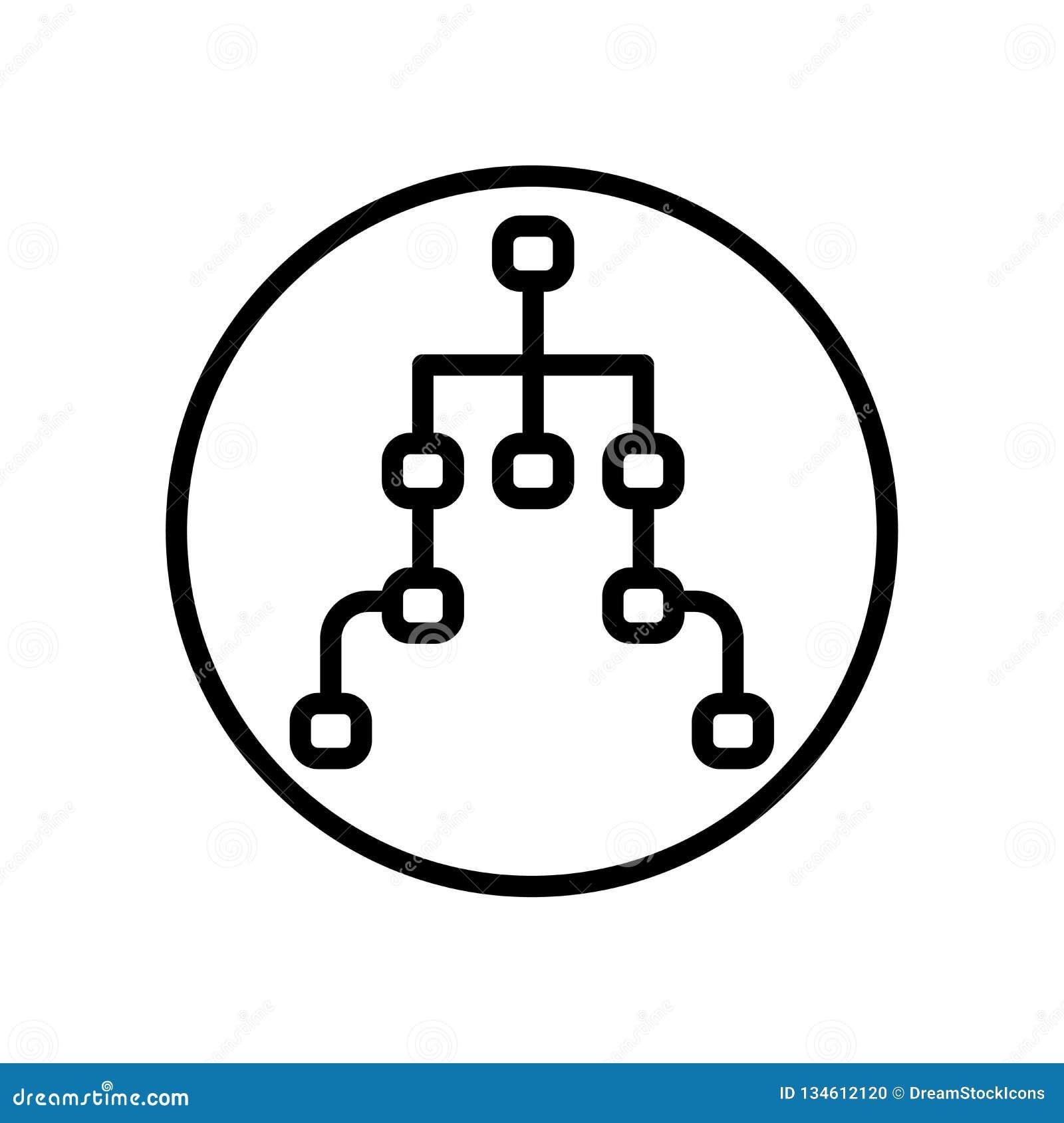 Vector del icono de la estructura aislado en el fondo blanco, muestra de la estructura