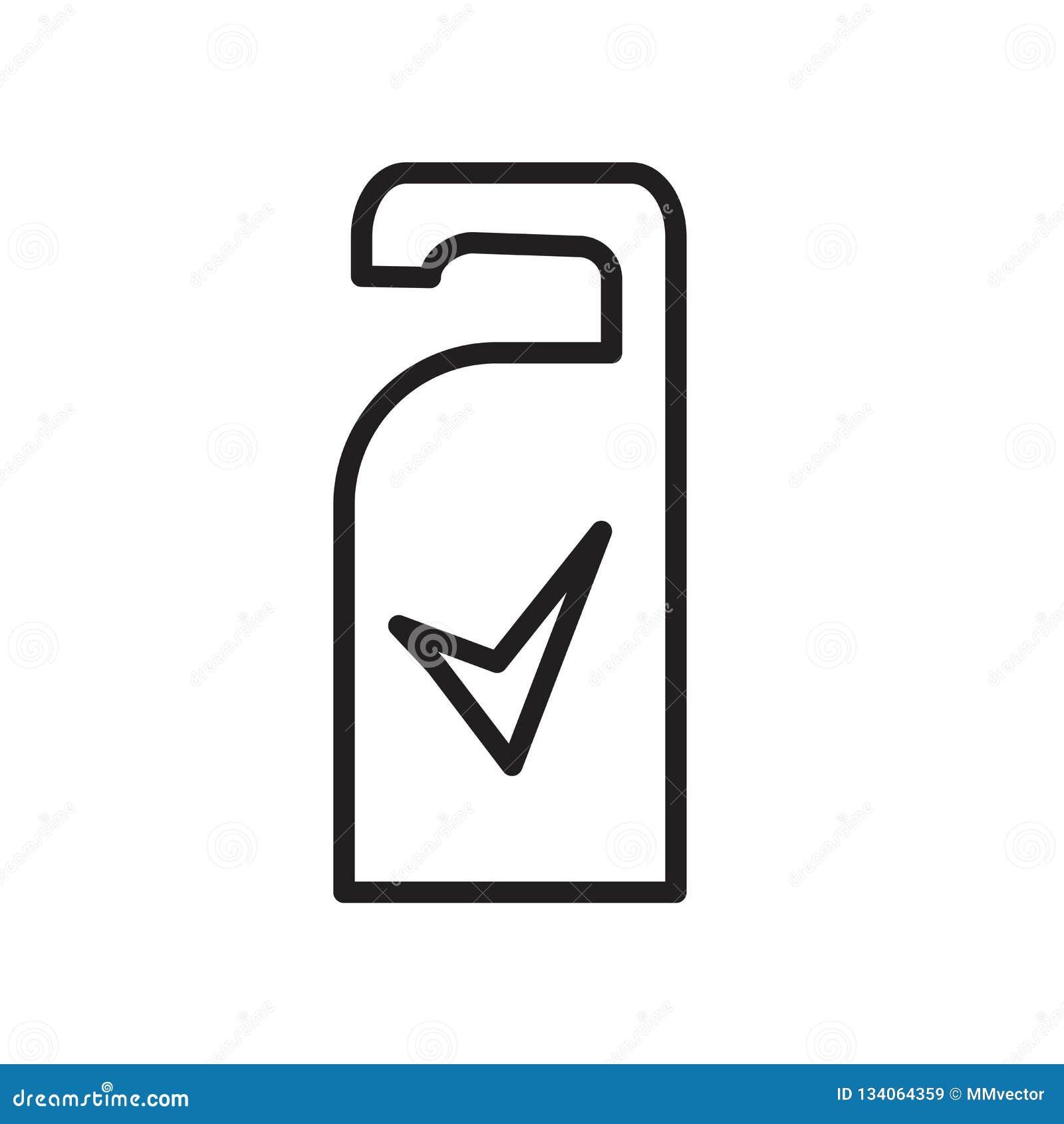 Vector del icono de la suspensión de puerta aislado en la muestra blanca del fondo, de la suspensión de puerta, el símbolo linear