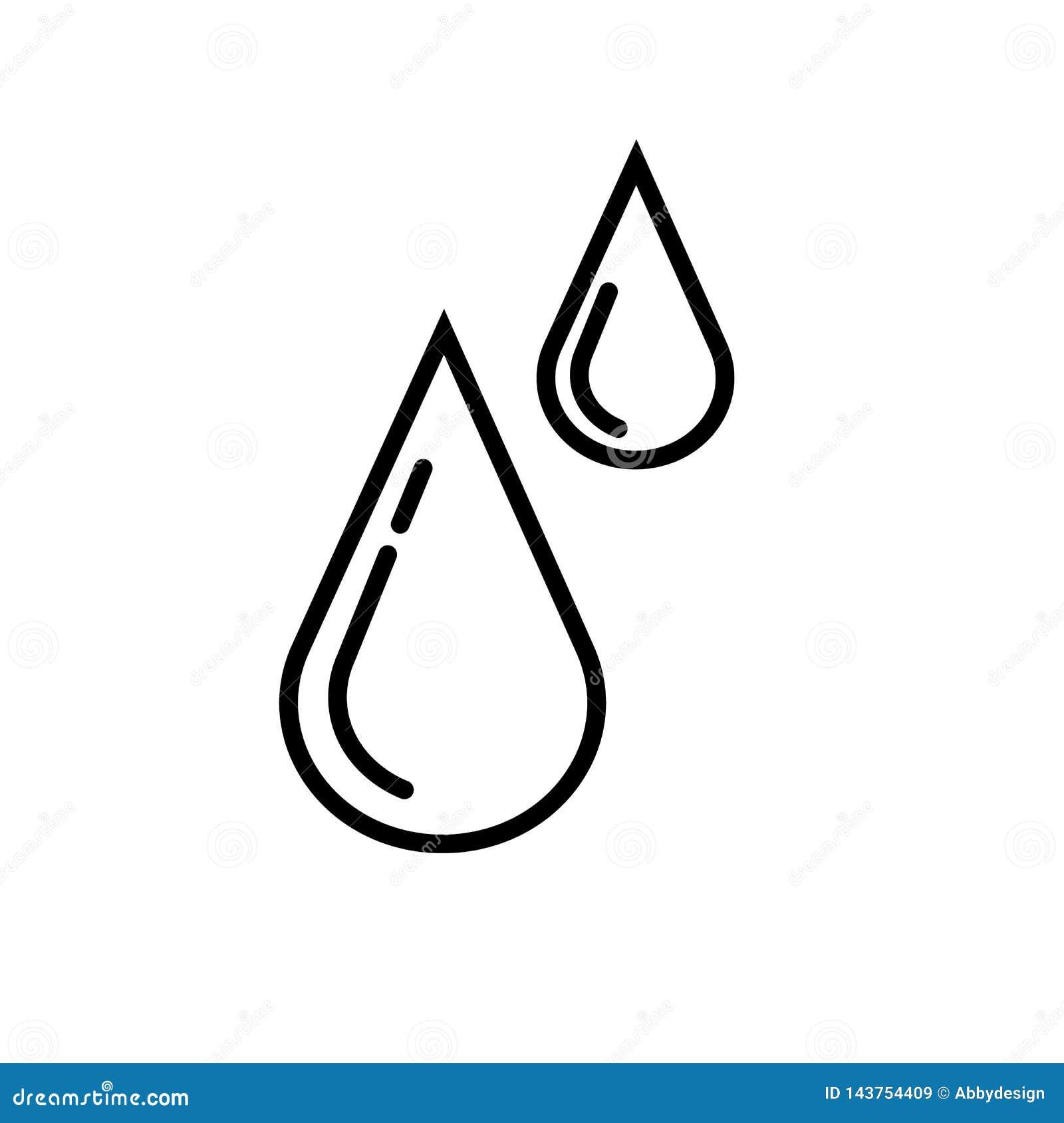 Vector del icono de las gotas de agua