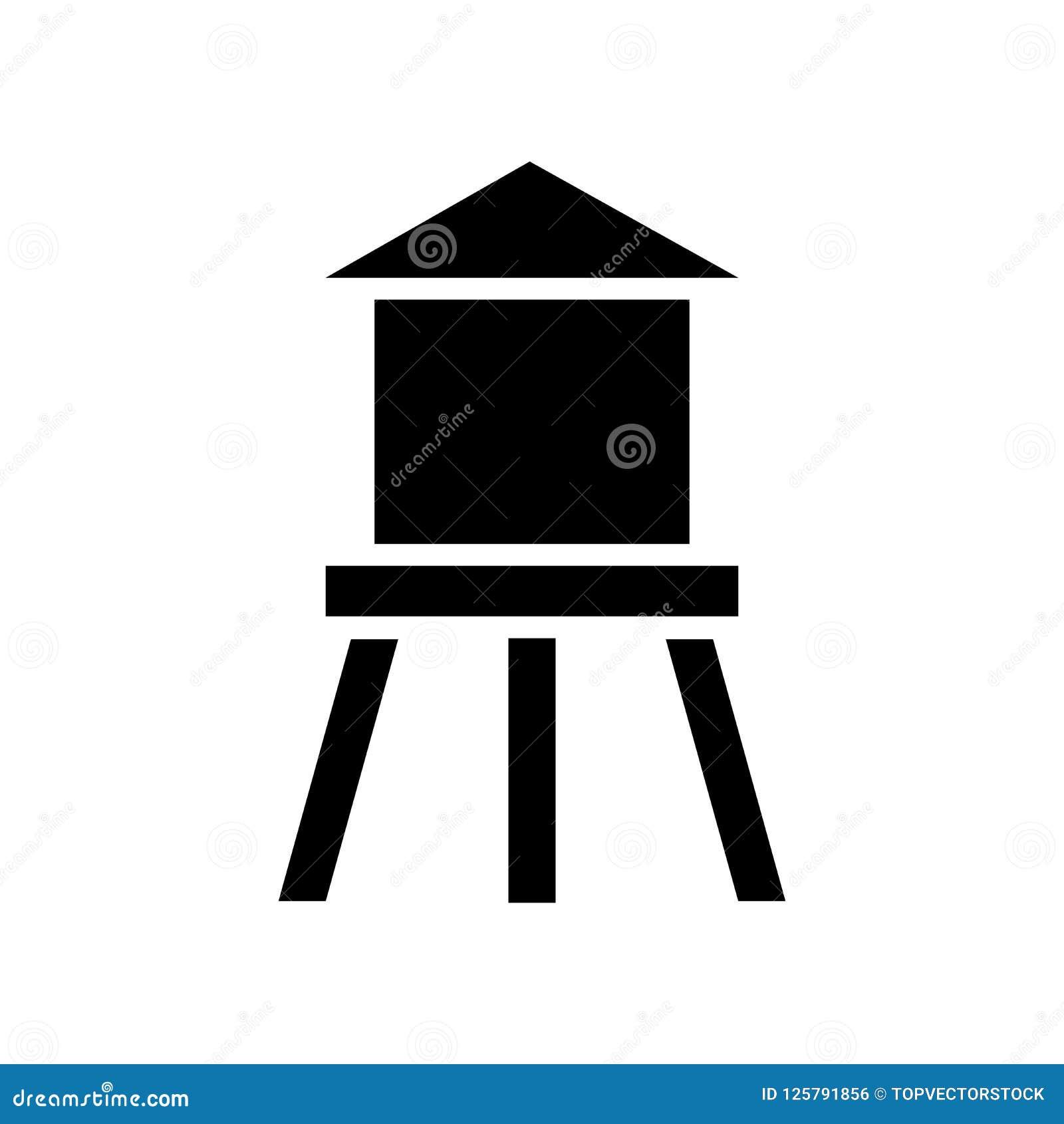 Vector del icono de Watertower aislado en el fondo blanco, concep del logotipo
