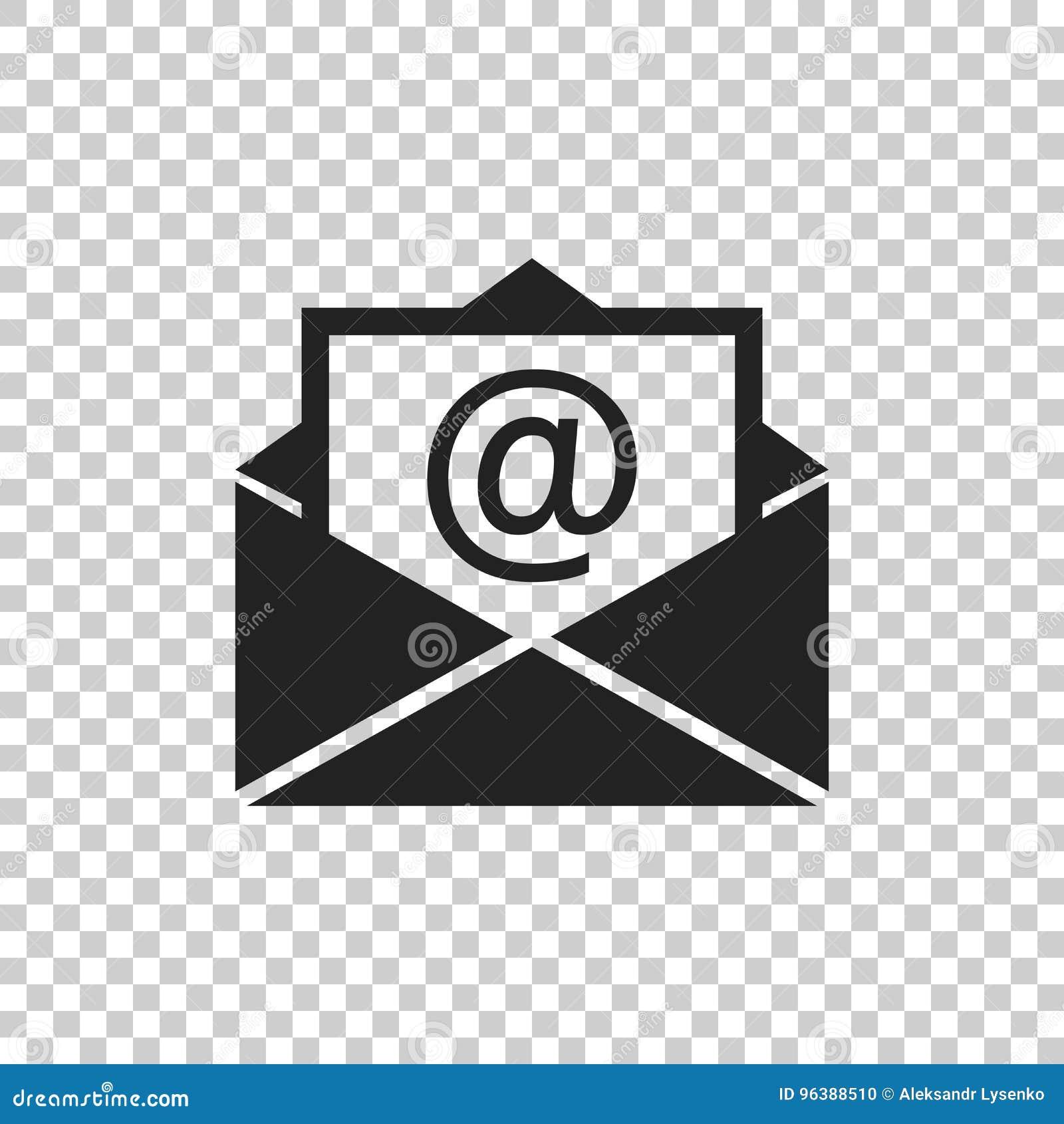 Vector del icono del sobre del correo en fondo aislado Símbolos del AME