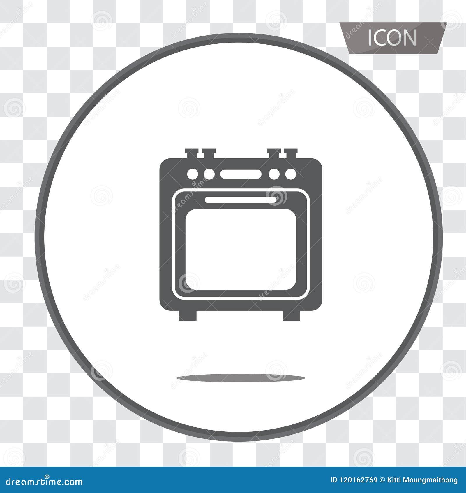 Vector del icono del horno aislado en fondo