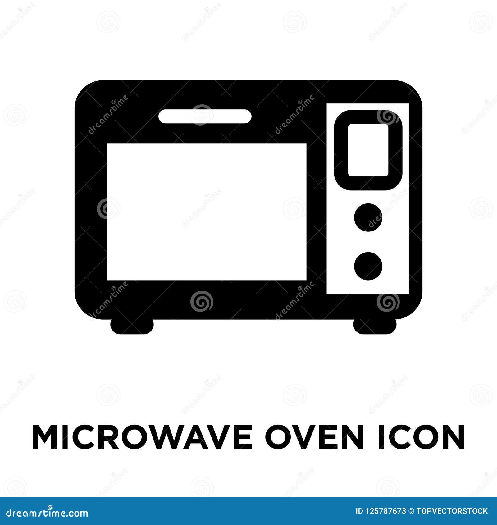 Vector del icono del horno de microondas aislado en el fondo blanco, logotipo co