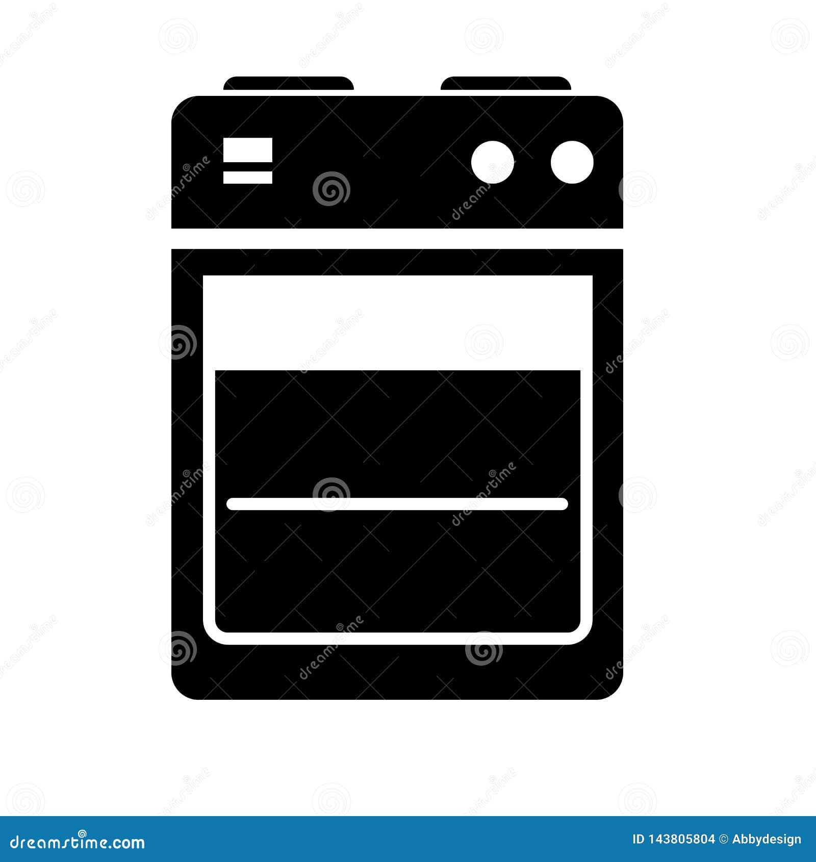 Vector del icono del horno