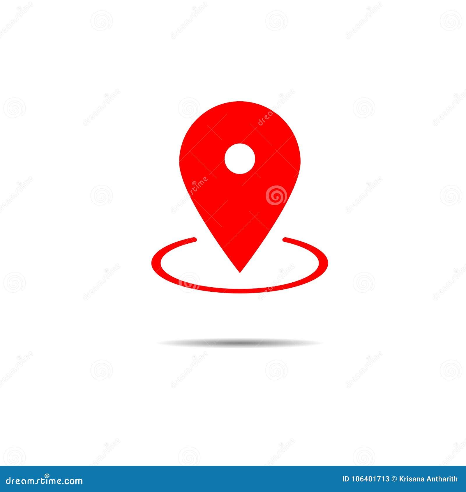 Vector Del Icono Del Indicador Del Mapa Símbolo De Ubicación De ...