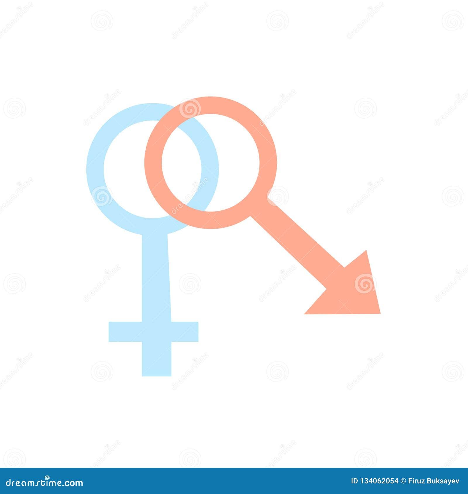Vector del icono del sexo aislado en el fondo blanco, muestra del sexo, símbolos de la familia