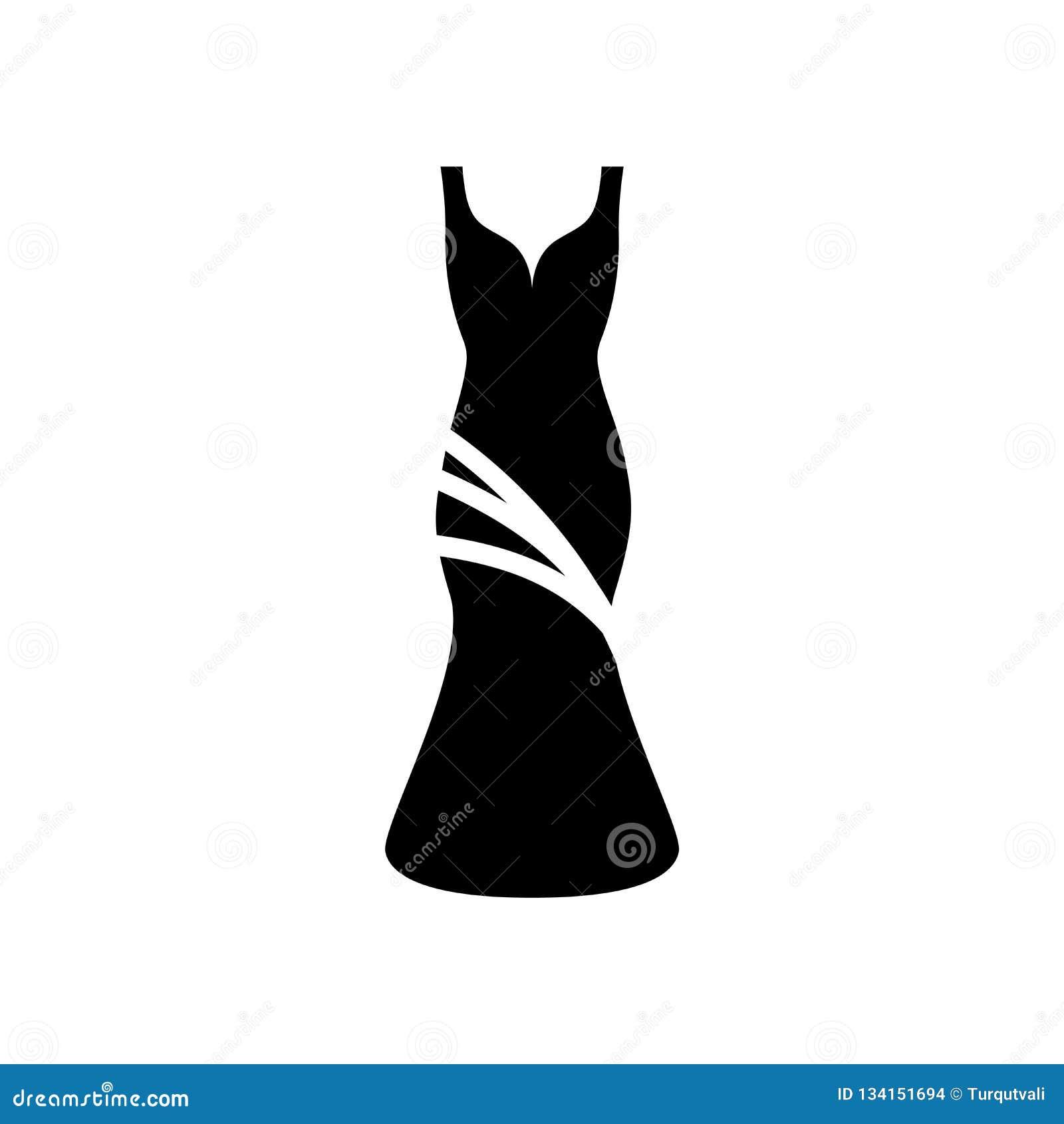 Vector del icono del vestido aislado en el fondo blanco, muestra del vestido, símbolos de la cerveza
