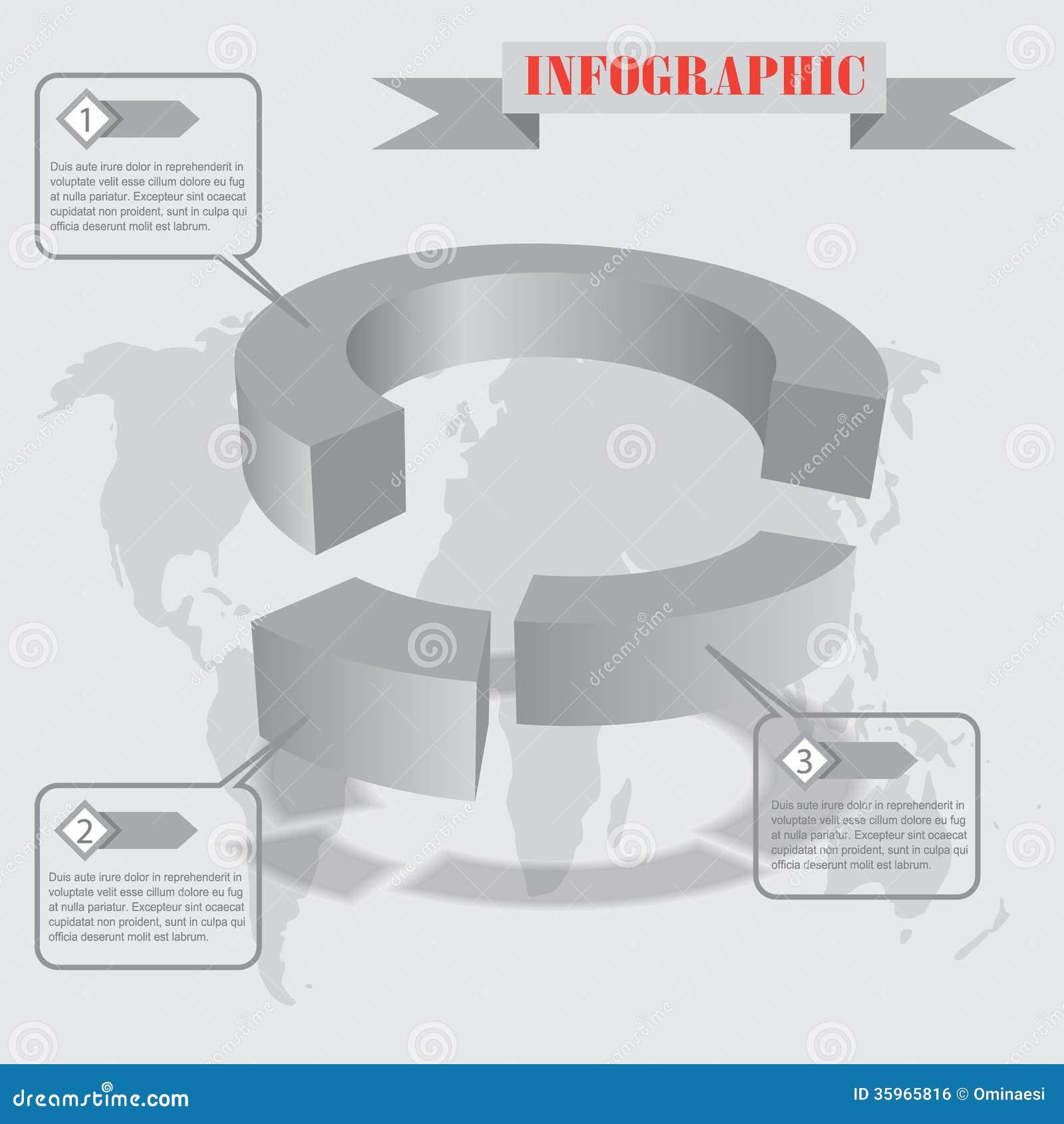 Vector del infographics de la parte