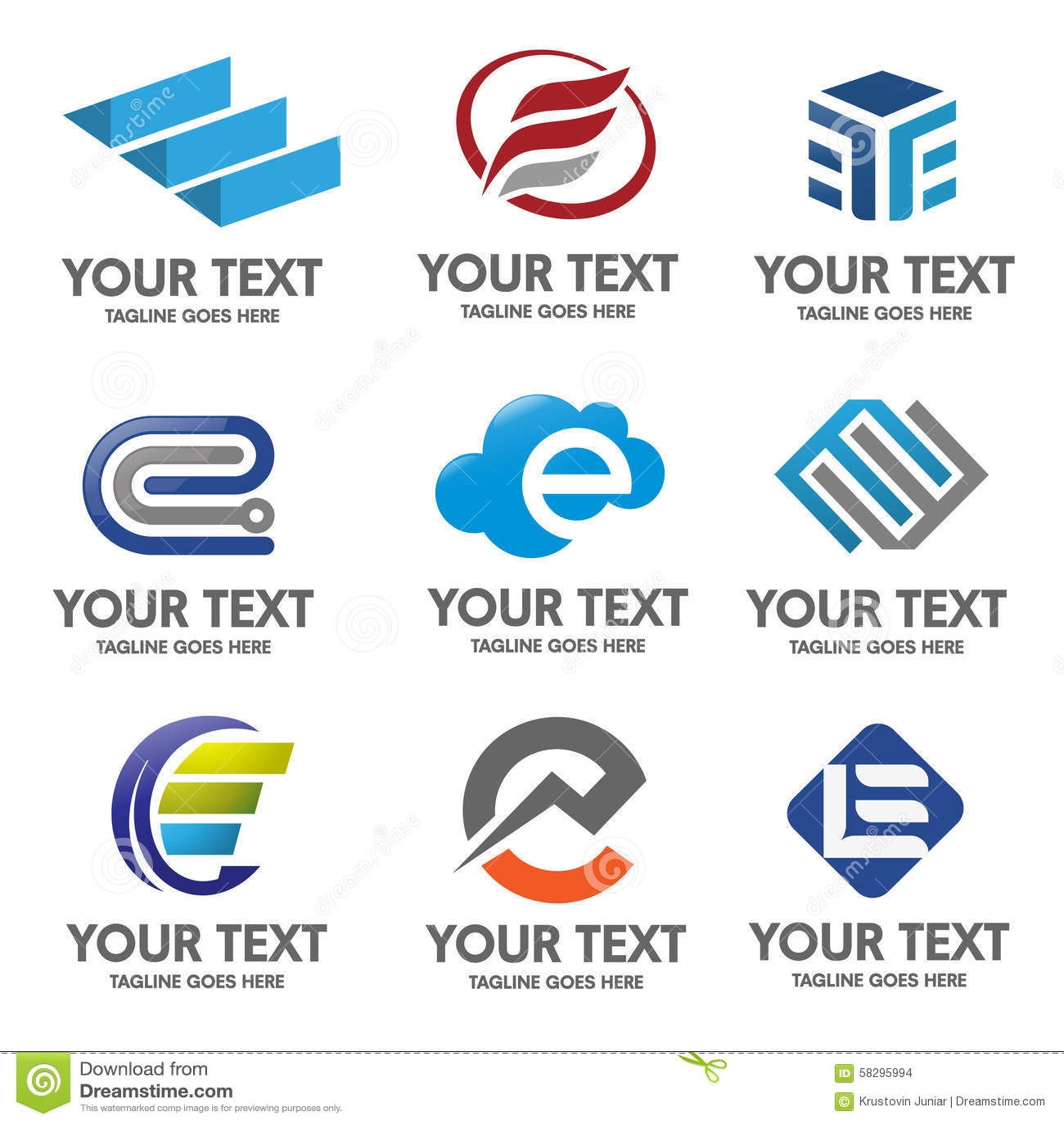 Vector del logotipo de la letra E