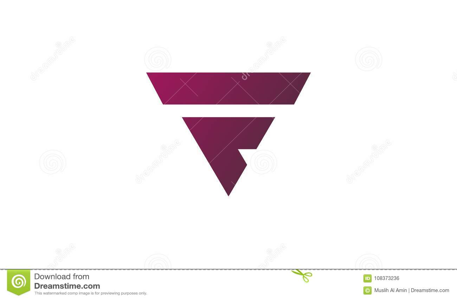 2546b58a8d231 Vector Del Logotipo De La Letra De F Plantilla Del Concepto De ...