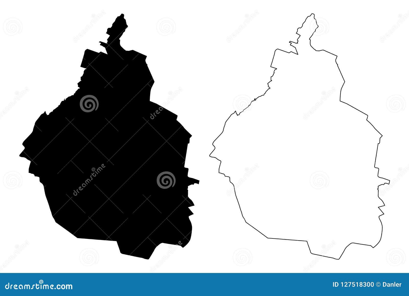 Vector Del Mapa De Ciudad De México Ilustración Del Vector