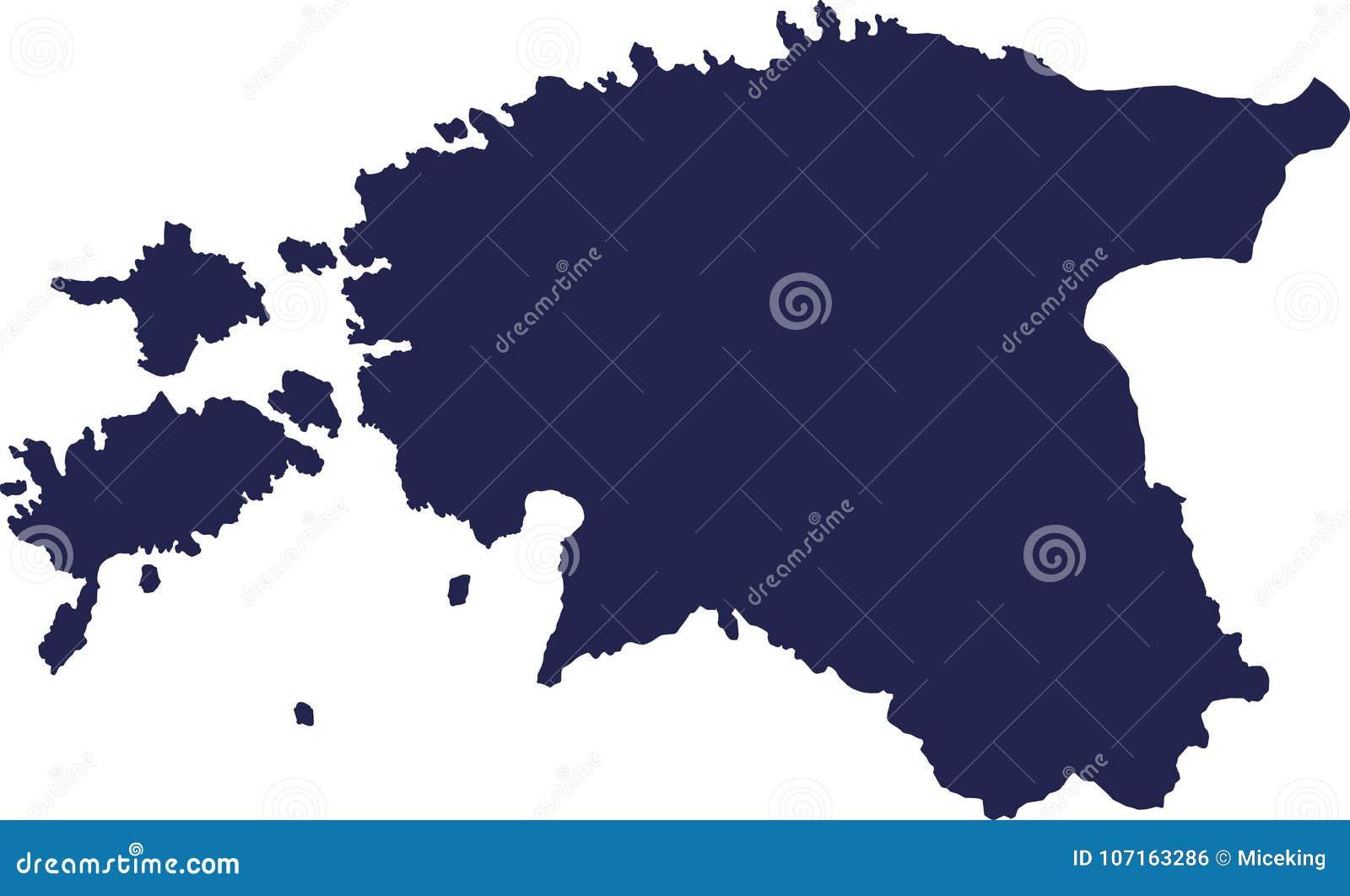 Vector del mapa de Estonia