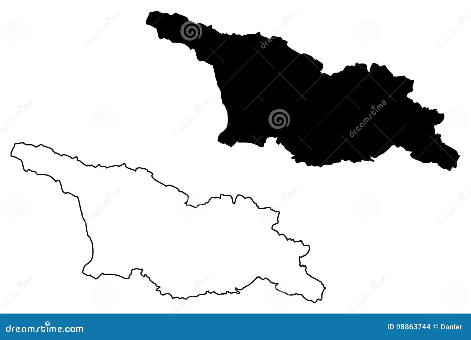 Vector del mapa de Georgia