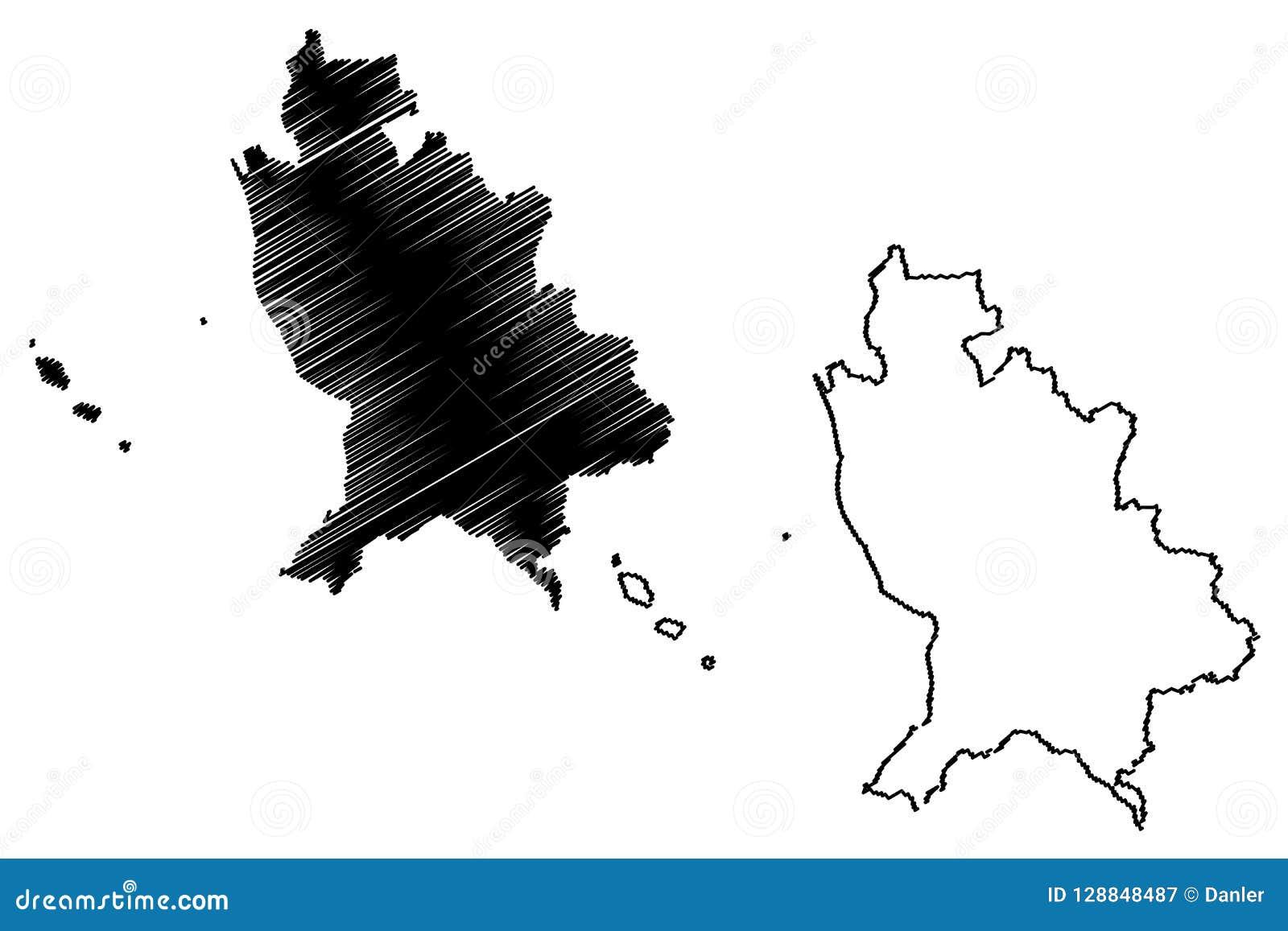 Vector Del Mapa De Nayarit Ilustración Del Vector Ilustración De