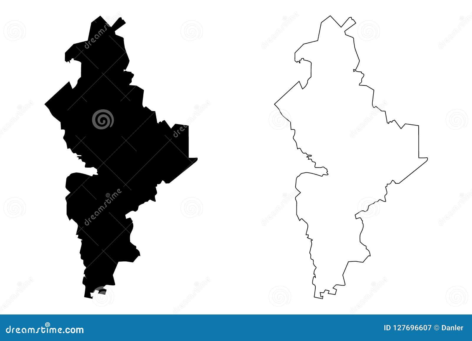 Vector Del Mapa De Nuevo Leon Ilustración Del Vector Ilustración