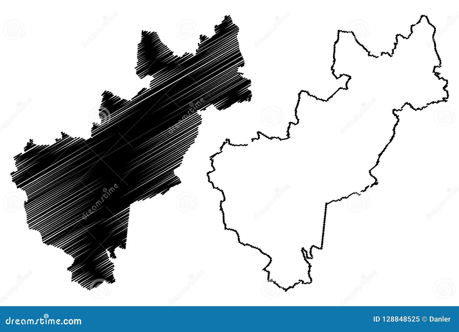 Vector Del Mapa De Queretaro Ilustración Del Vector Ilustración De