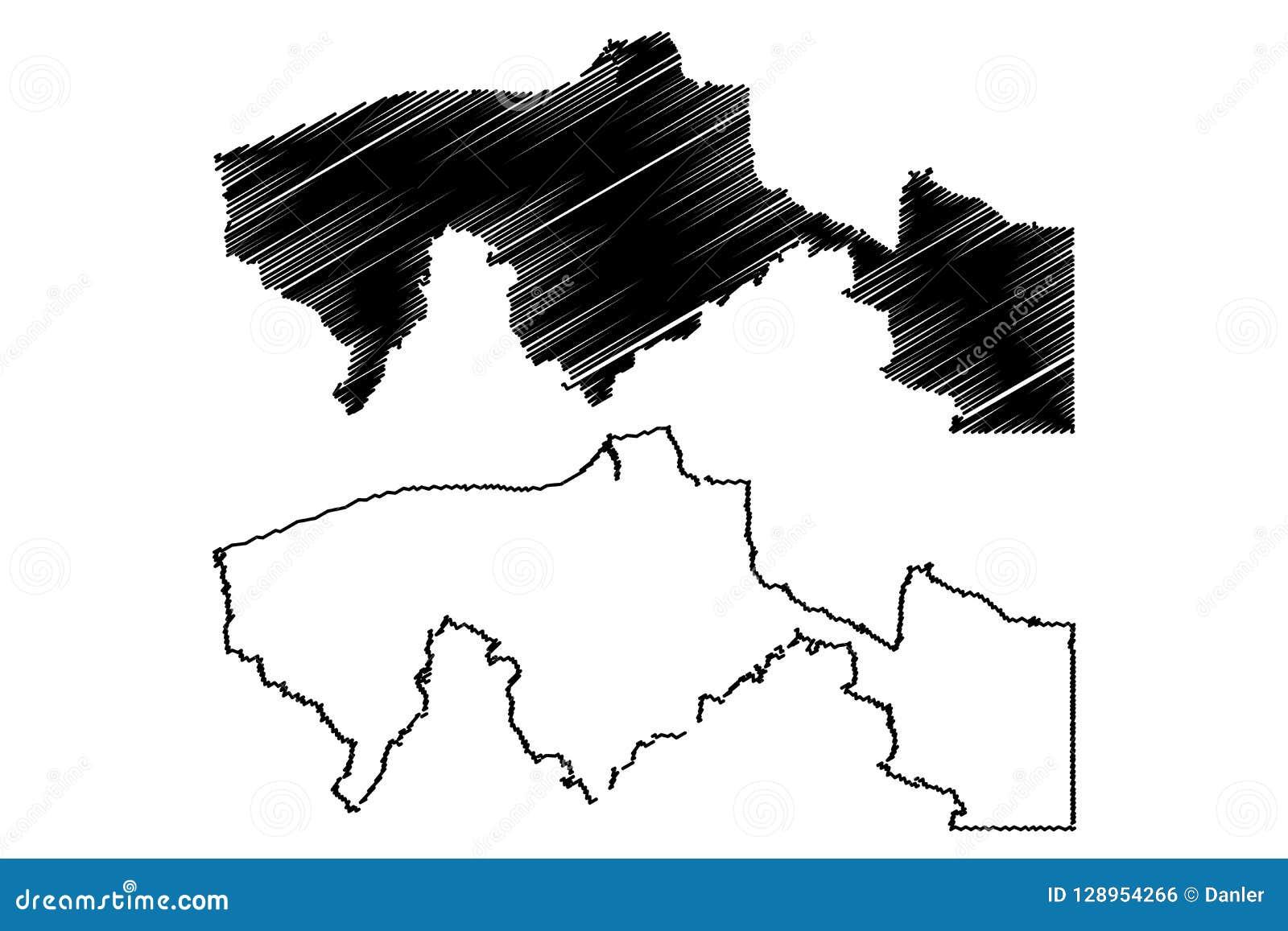 Vector Del Mapa De Tabasco Ilustración Del Vector Ilustración De