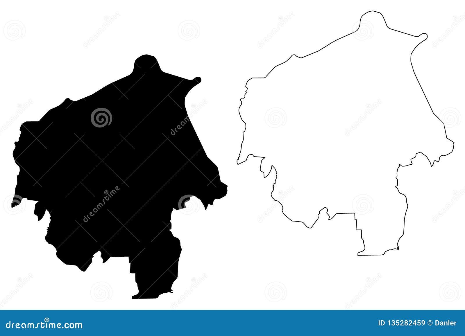 Vector del mapa del estado de Oyo