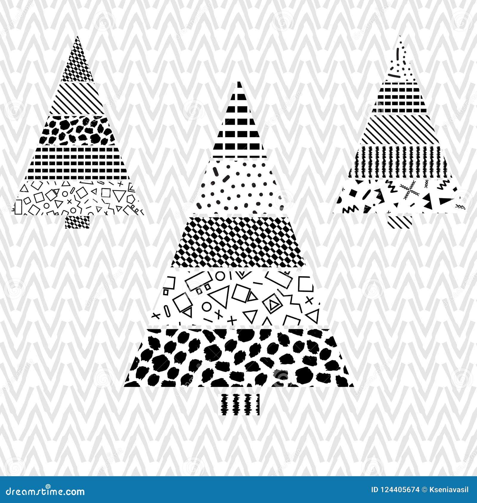 Vector Del Modelo De La Navidad Del árbol Ilustración del Vector ...