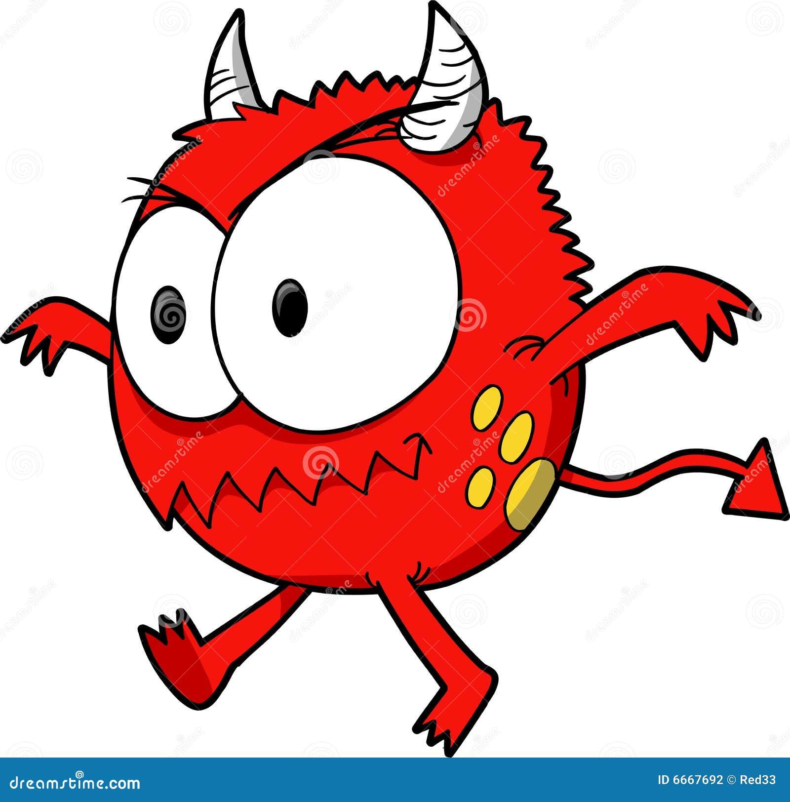 Vector del monstruo del diablo