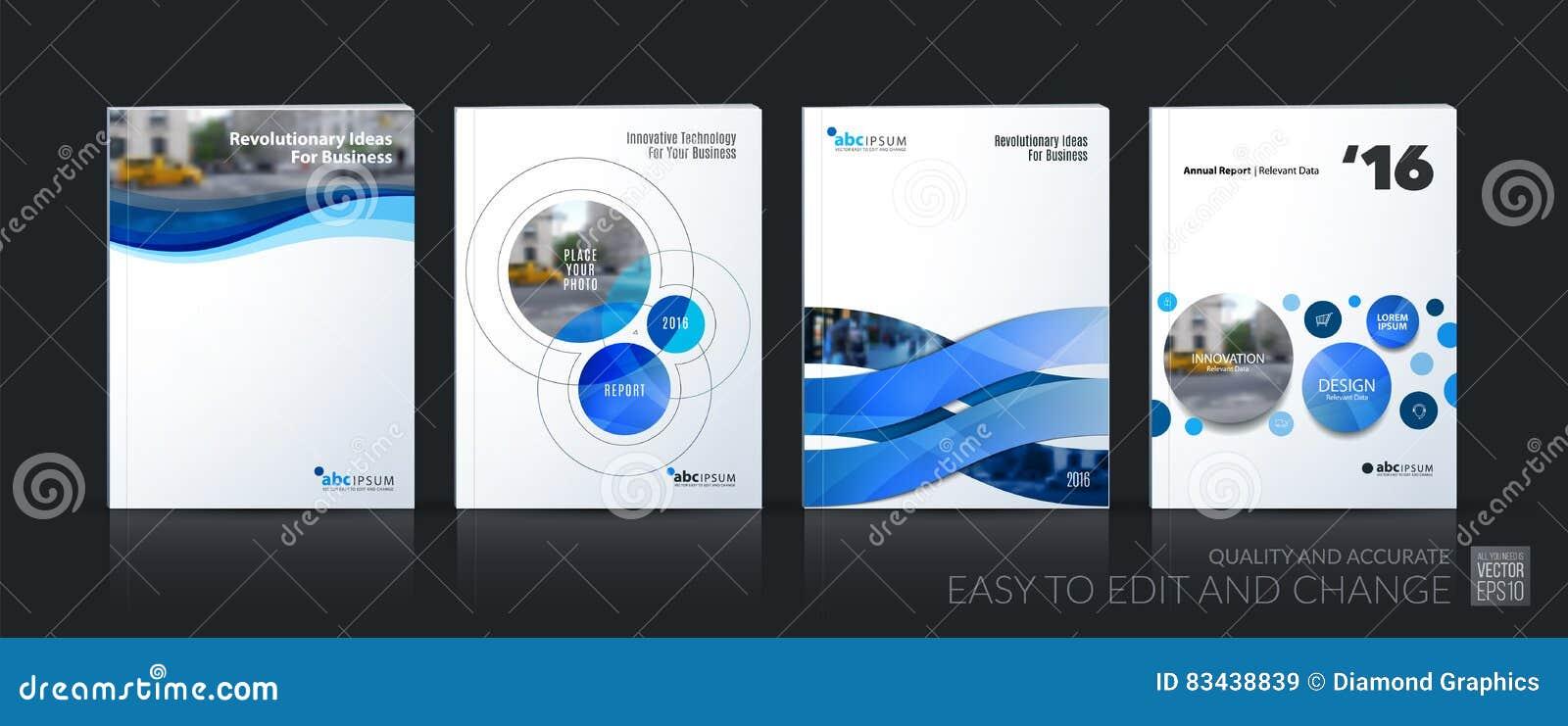 Vector del negocio La disposición de la plantilla del folleto, cubre el diseño suave Ana