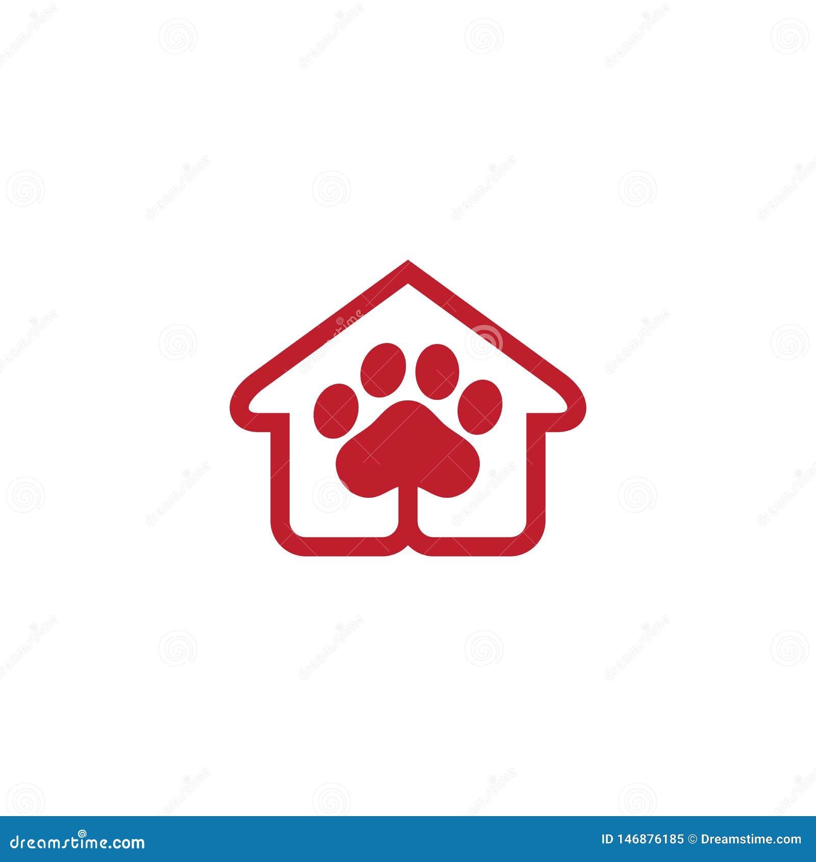 Vector del negocio del logotipo de la tienda de animales