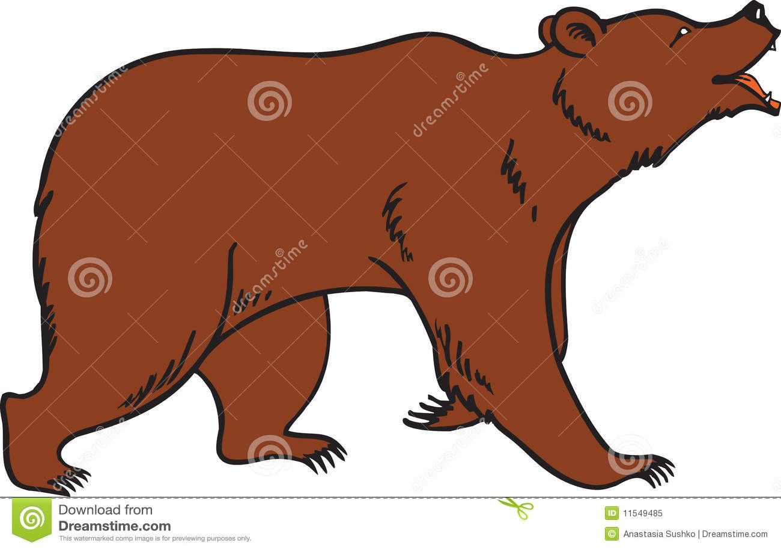 Vector del oso de Brown del grisáceo