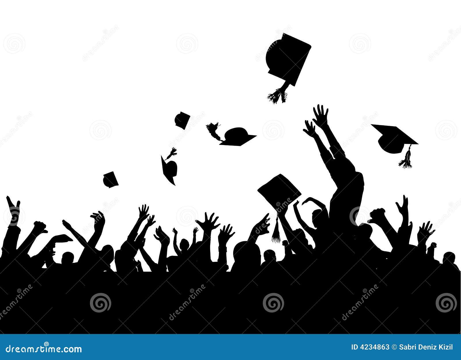Vector del partido de graduación