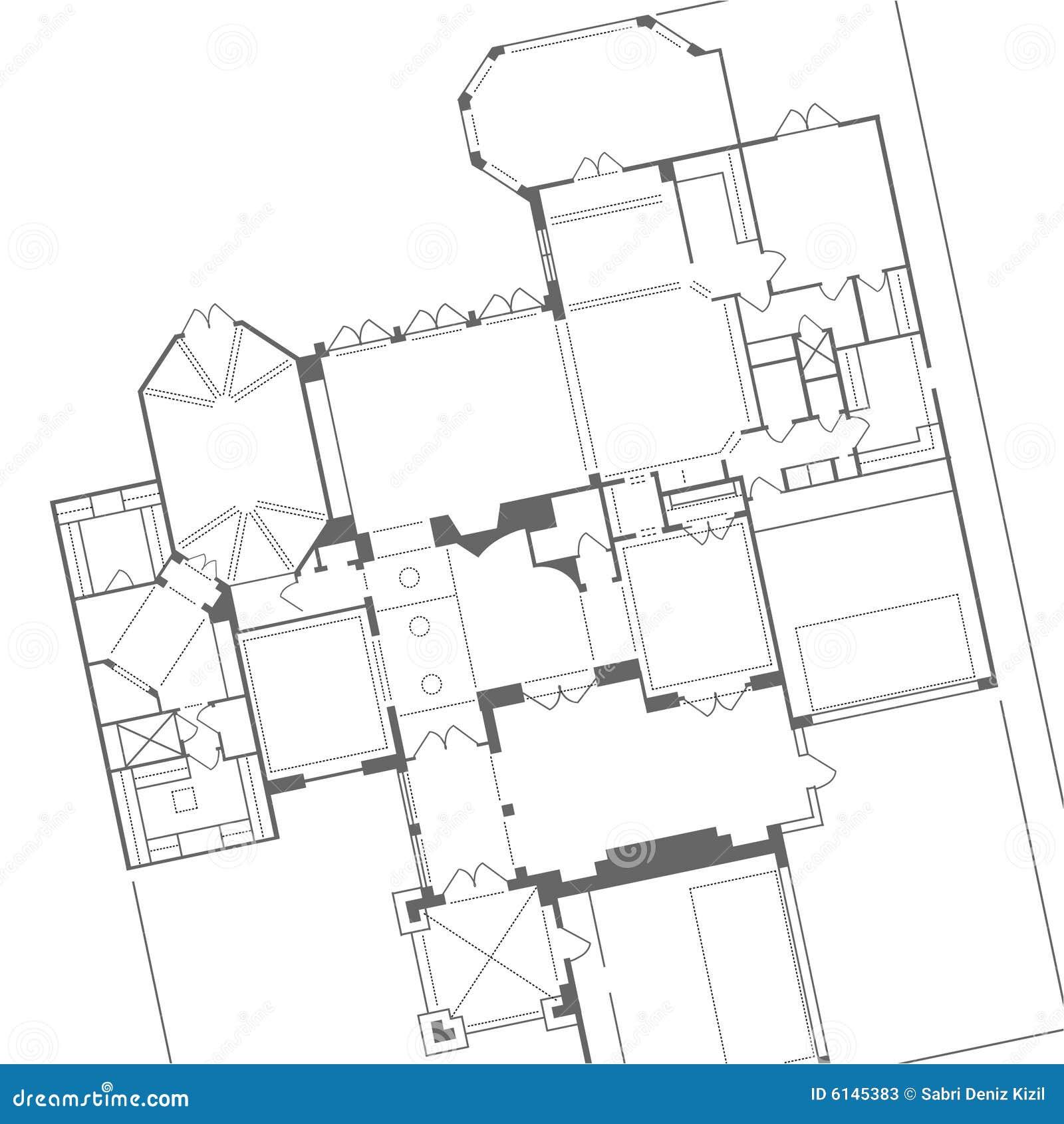 Vector del plan de la casa
