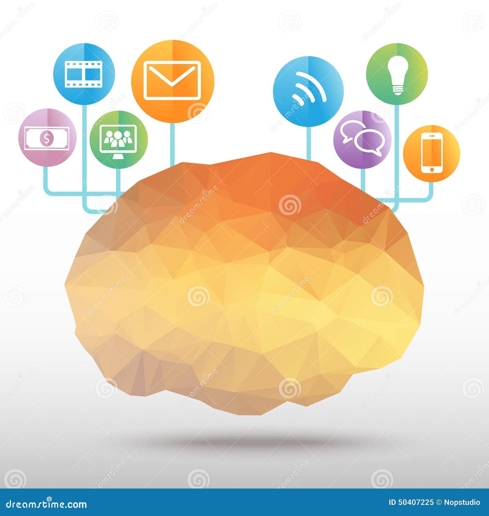 Vector del polígono del cerebro