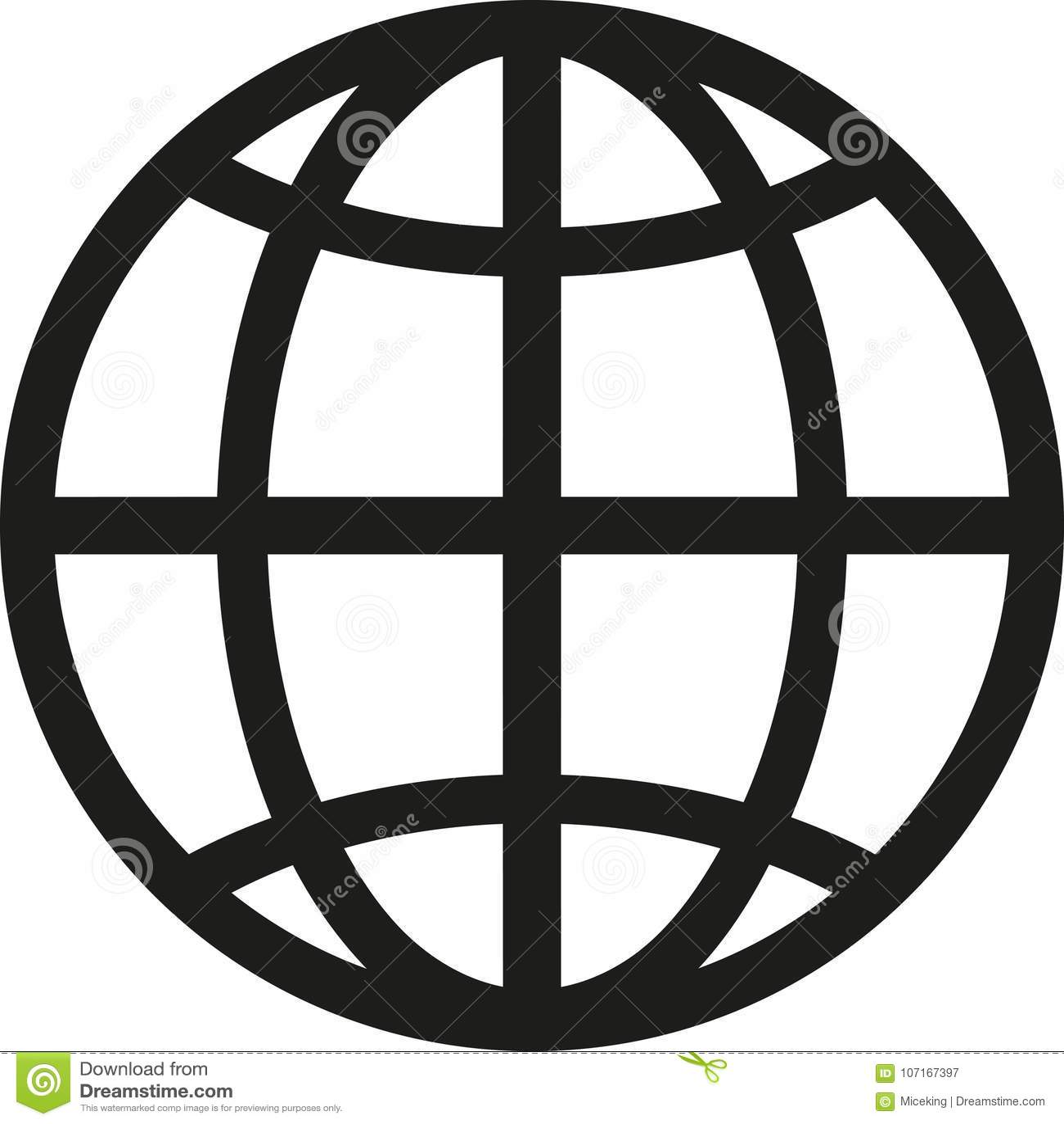 Vector del símbolo del globo