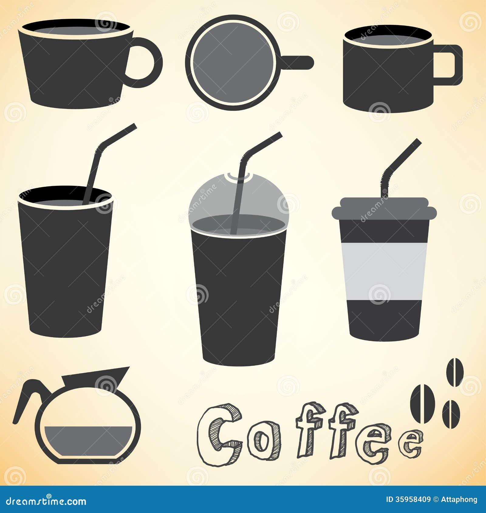 Vector del sistema de café