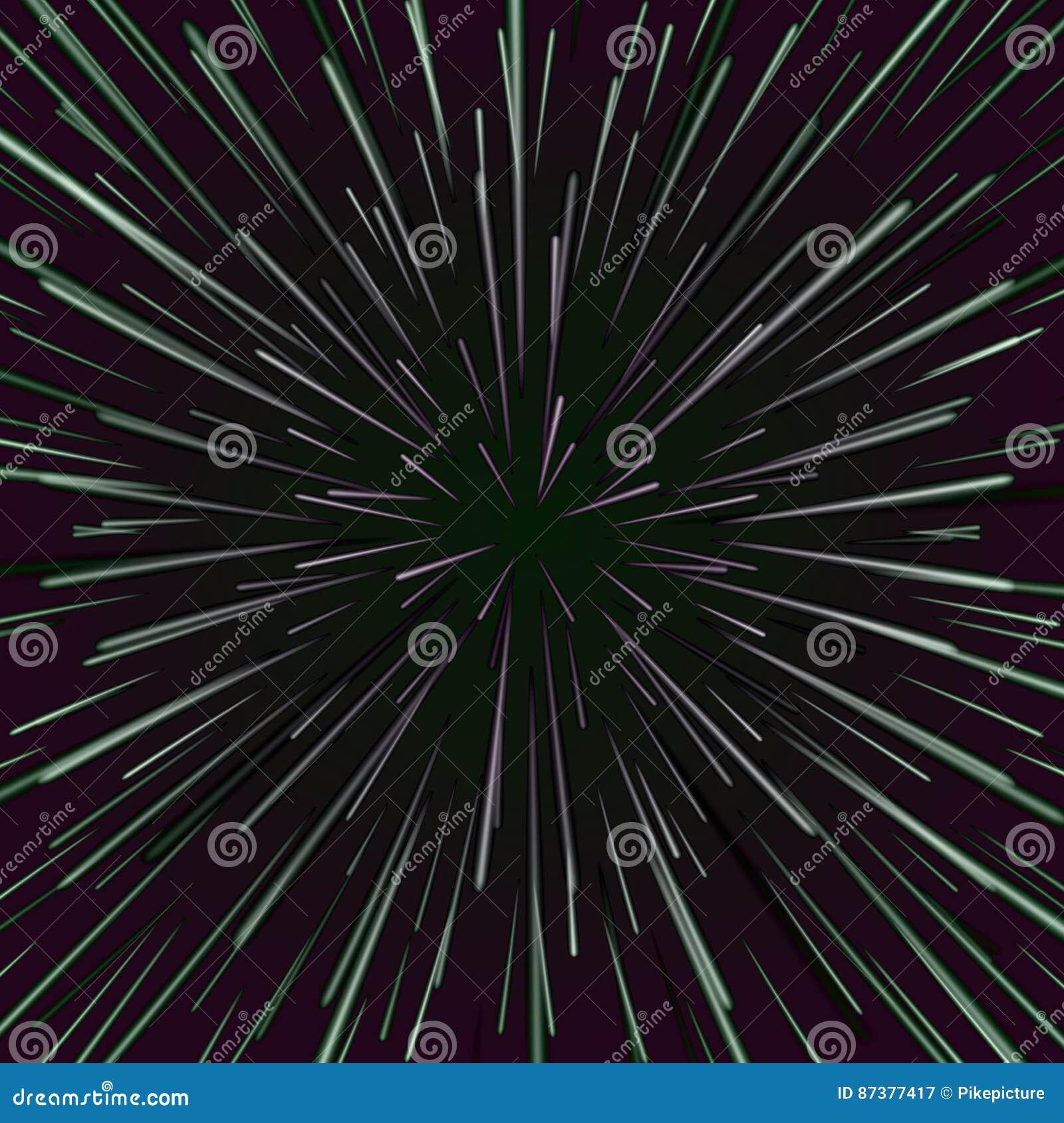 Vector del vórtice del espacio Fondo abstracto con la deformación de la estrella, la explosión de las estrellas o Hyperspace