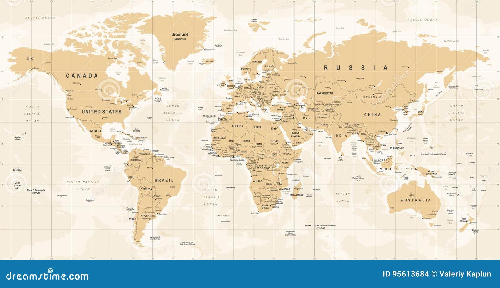 Vector del vintage del mapa del mundo ejemplo detallado del worldmap vector del vintage del mapa del mundo ejemplo detallado del worldmap gumiabroncs Image collections