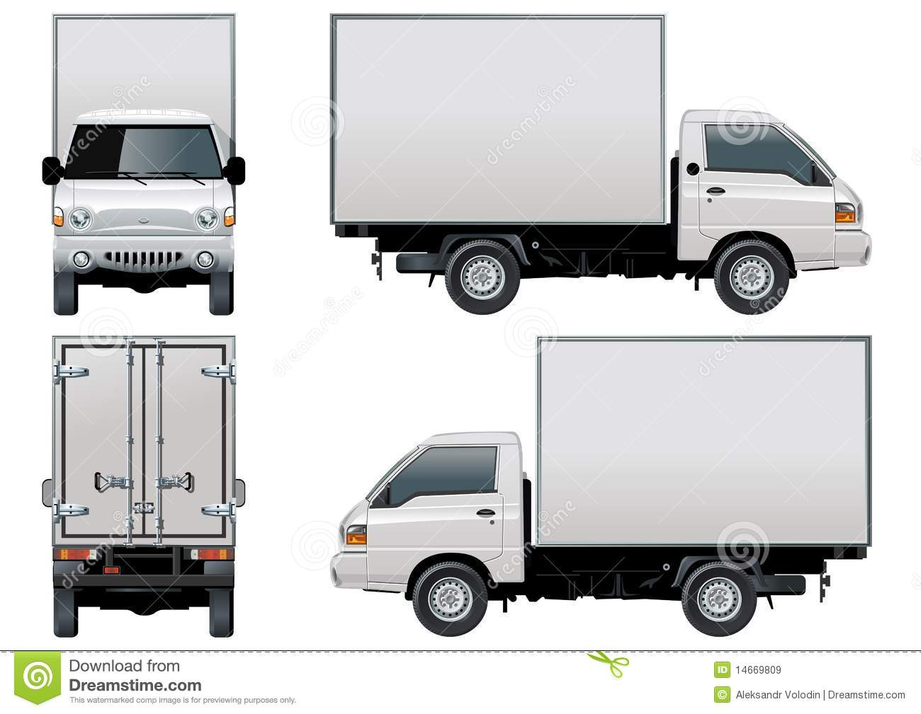 delivery truck vector - photo #7