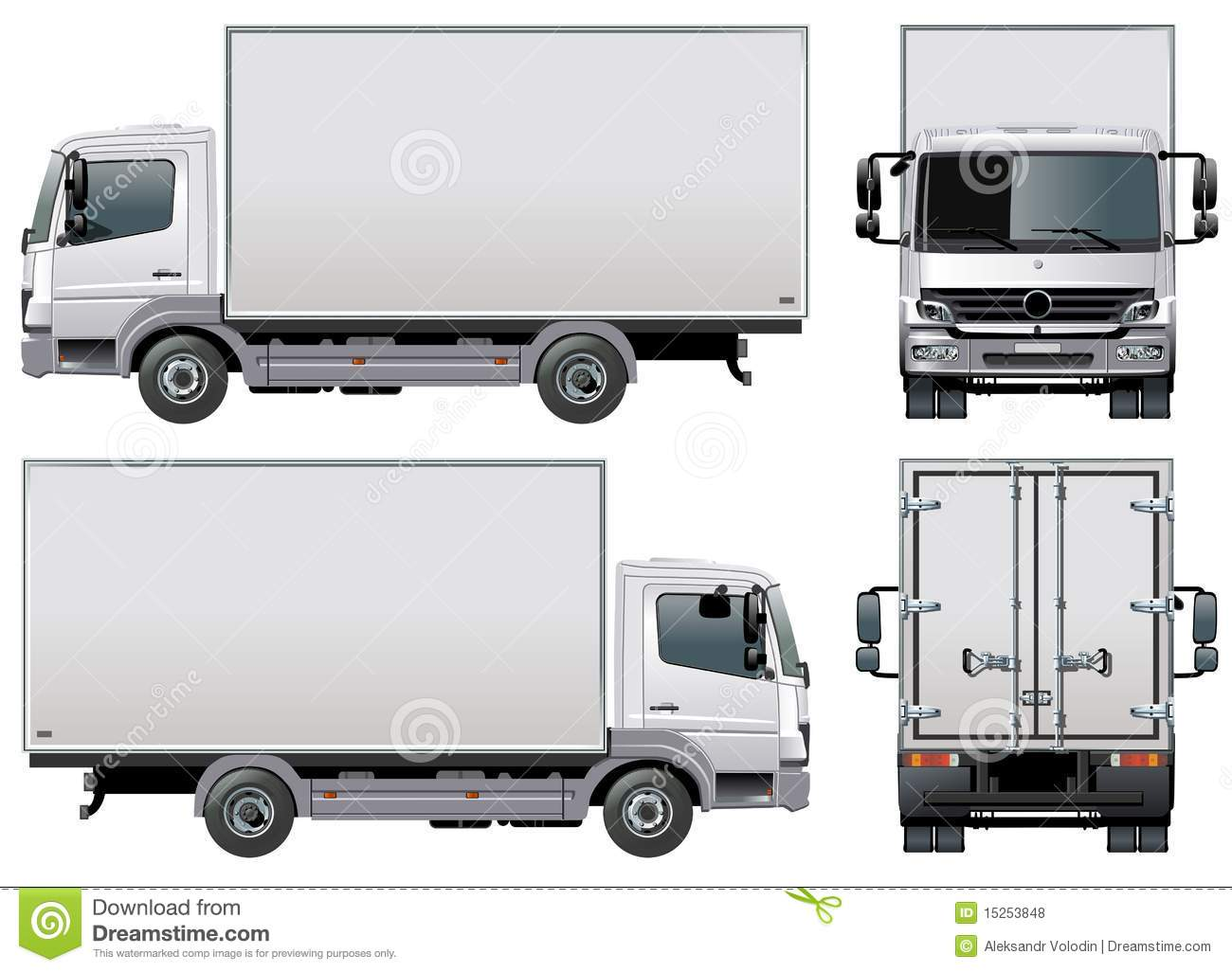 Vector Delivery / Cargo Truck Royalty Free Stock Photos ...