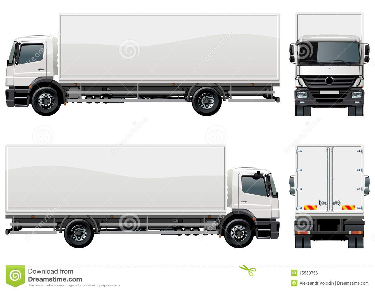 Vector Delivery / Cargo Truck Royalty Free Stock Image ...