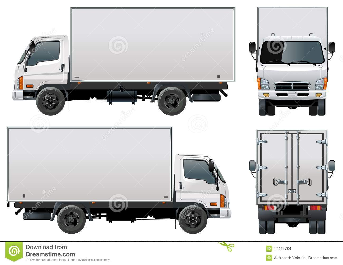 Vector Delivery / Cargo Truck Stock Vector - Illustration ...