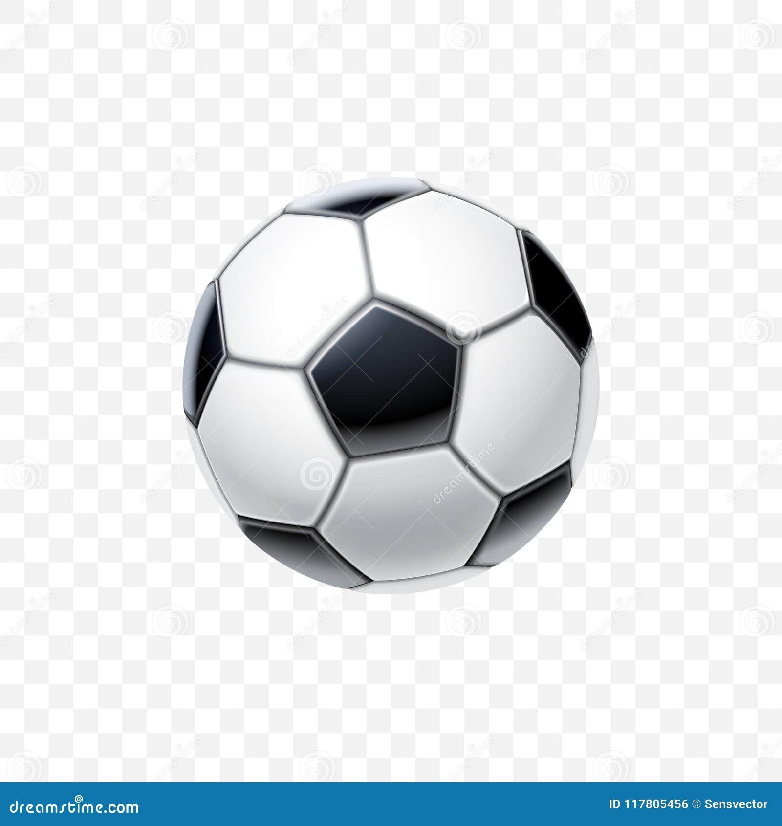 Vector Den Realistischen Ball Des Fussballs 3d In