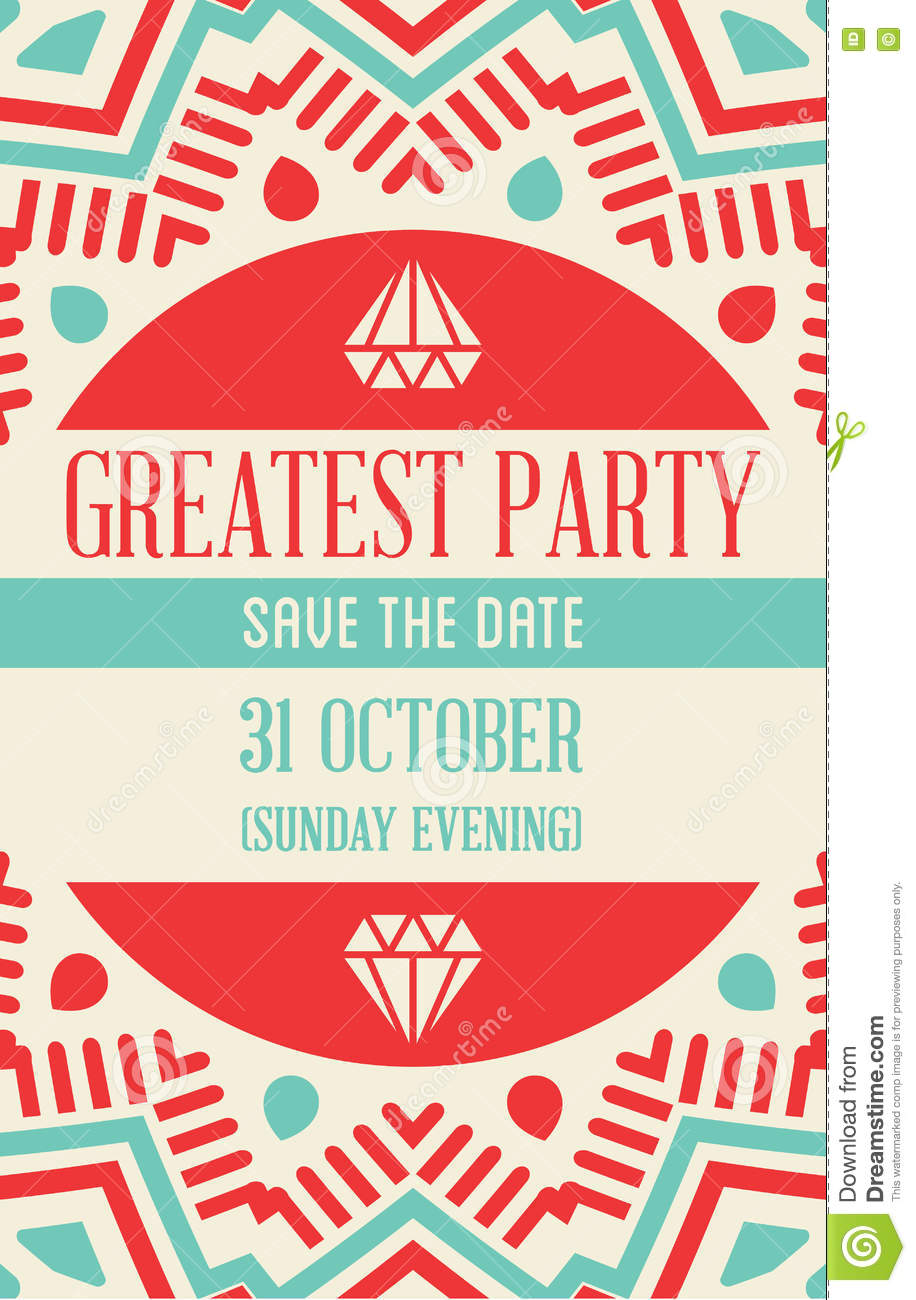 Vector Design Awesome Wedding Invitation Template With Mandala O ...
