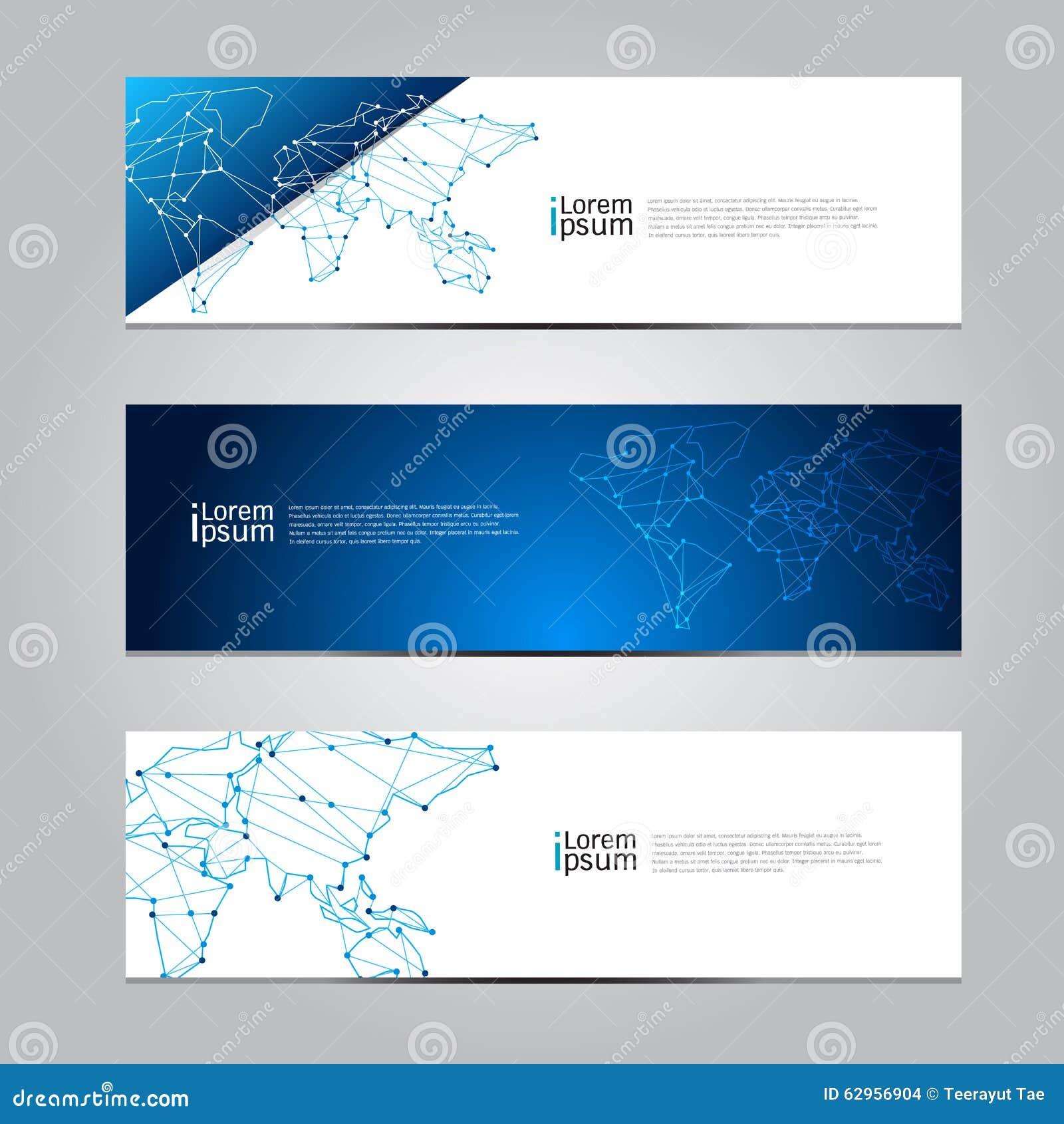 Design vector banner - Background Banner Design Illustration