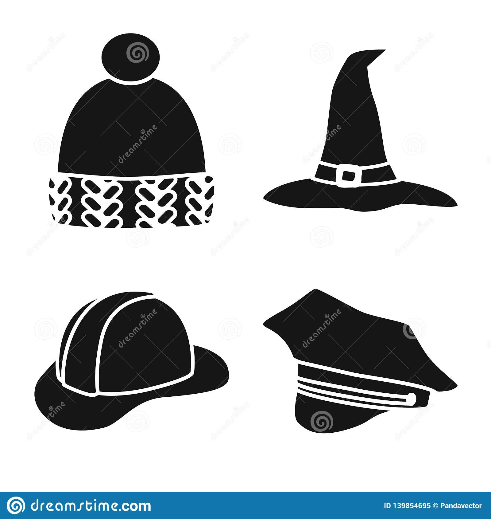 54e5cd8e0ad Isolated object of beanie and beret icon. Collection of beanie and napper  stock symbol for web.