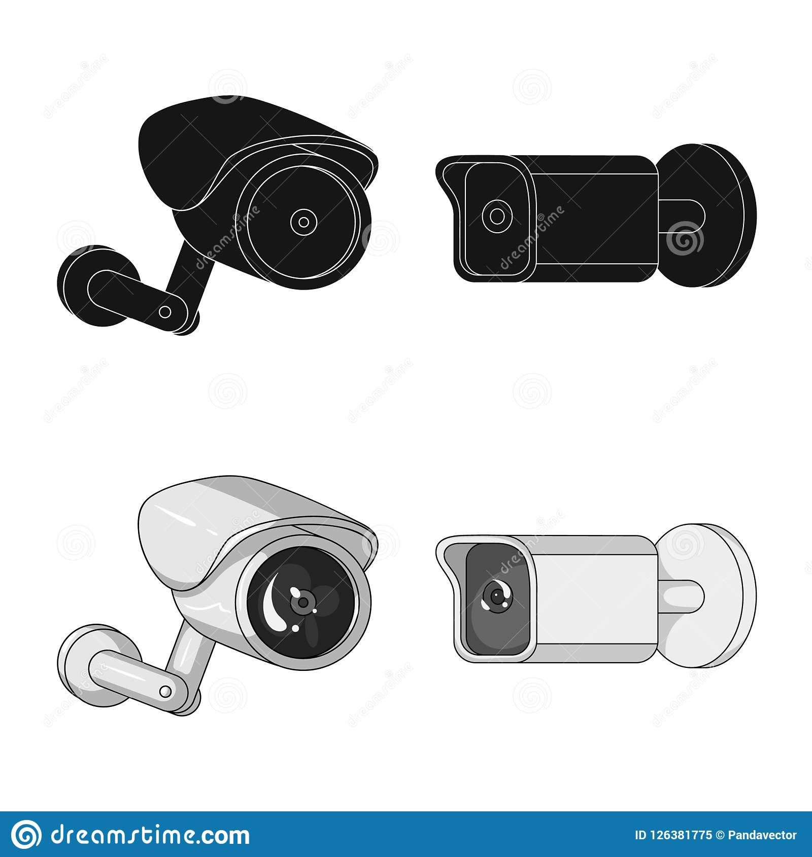Isolated Object Of Cctv And Camera Symbol Set Of Cctv And System